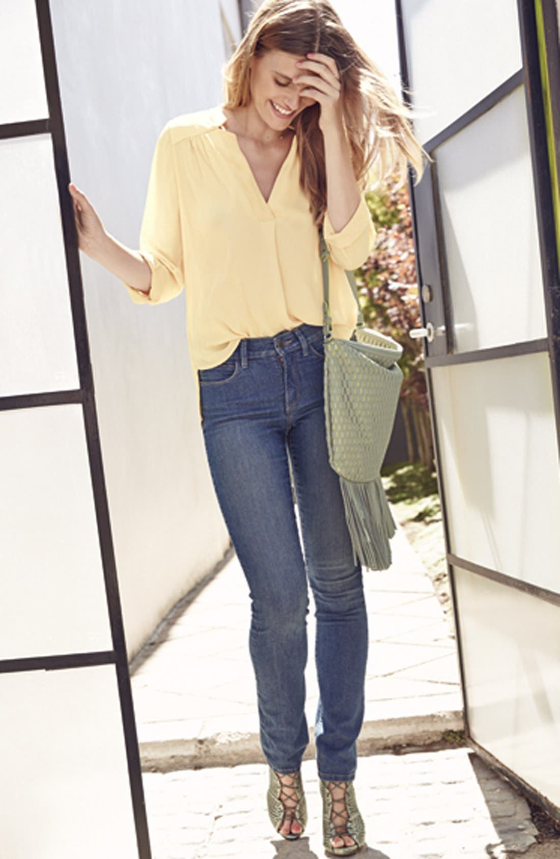 'Clarissa' Stretch Skinny Ankle Jeans, Main, color, 425
