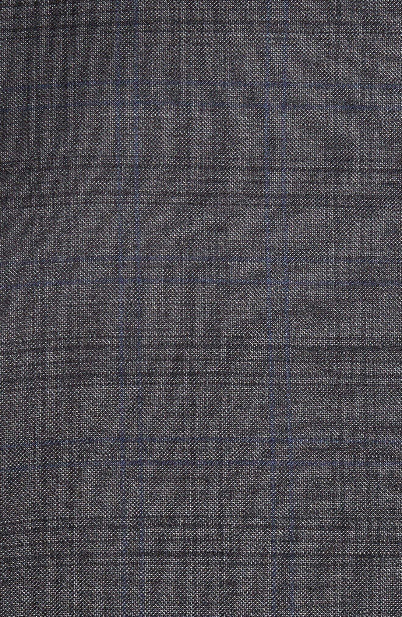 Sutton Trim Fit Plaid Wool Sport Coat,                             Alternate thumbnail 6, color,
