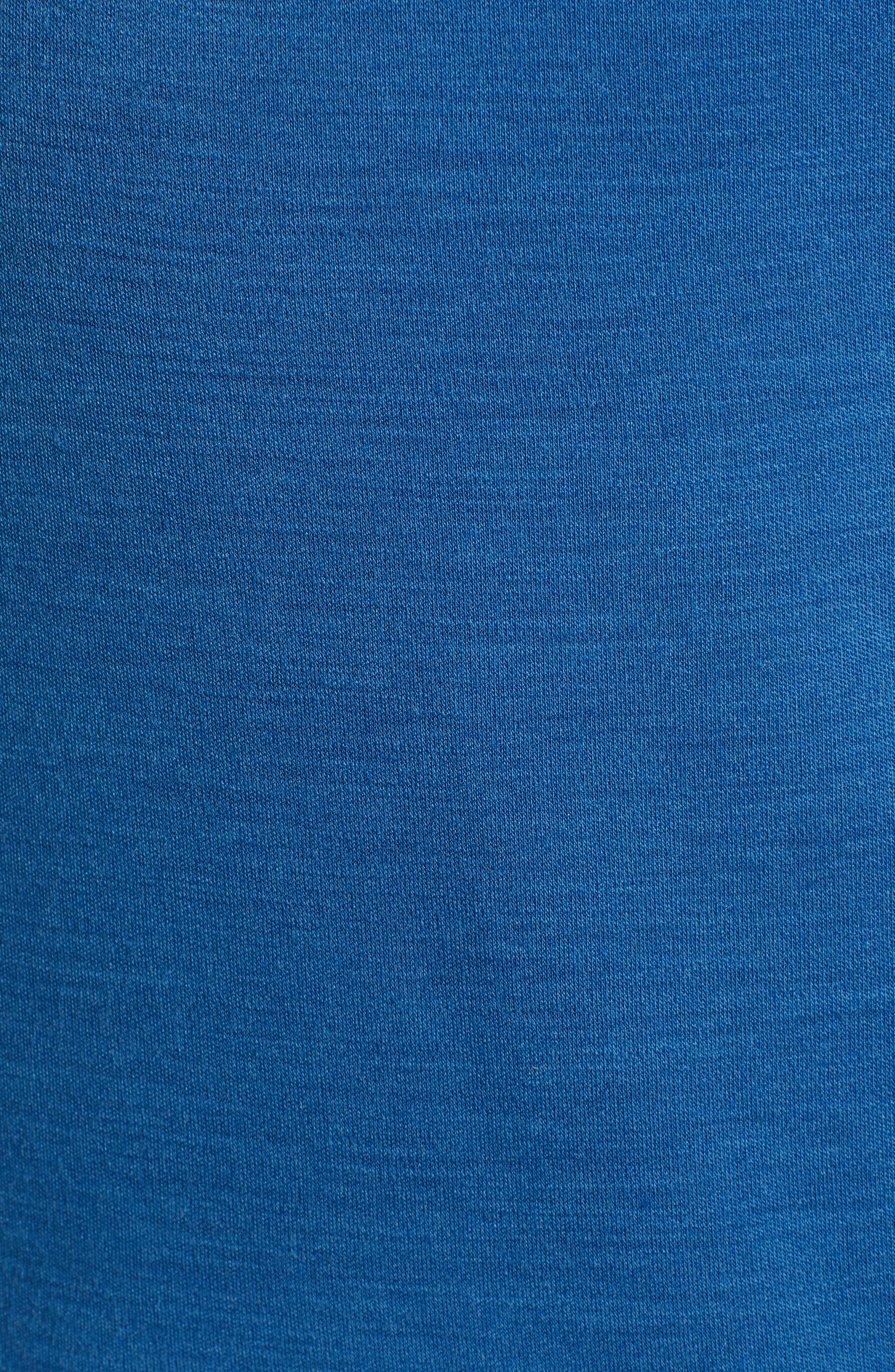PhD<sup>®</sup> Light Merino Wool Blend Hooded Pullover,                             Alternate thumbnail 5, color,                             BRIGHT COBALT HEATHER