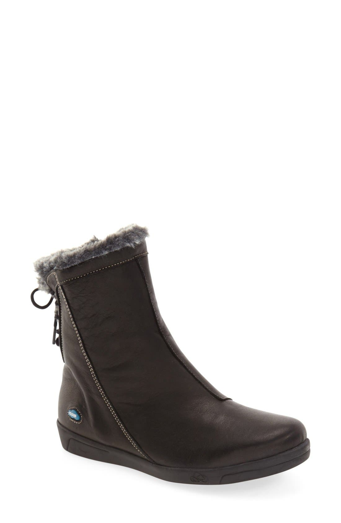 'Aryana' Boot,                             Main thumbnail 1, color,                             BLACK LEATHER