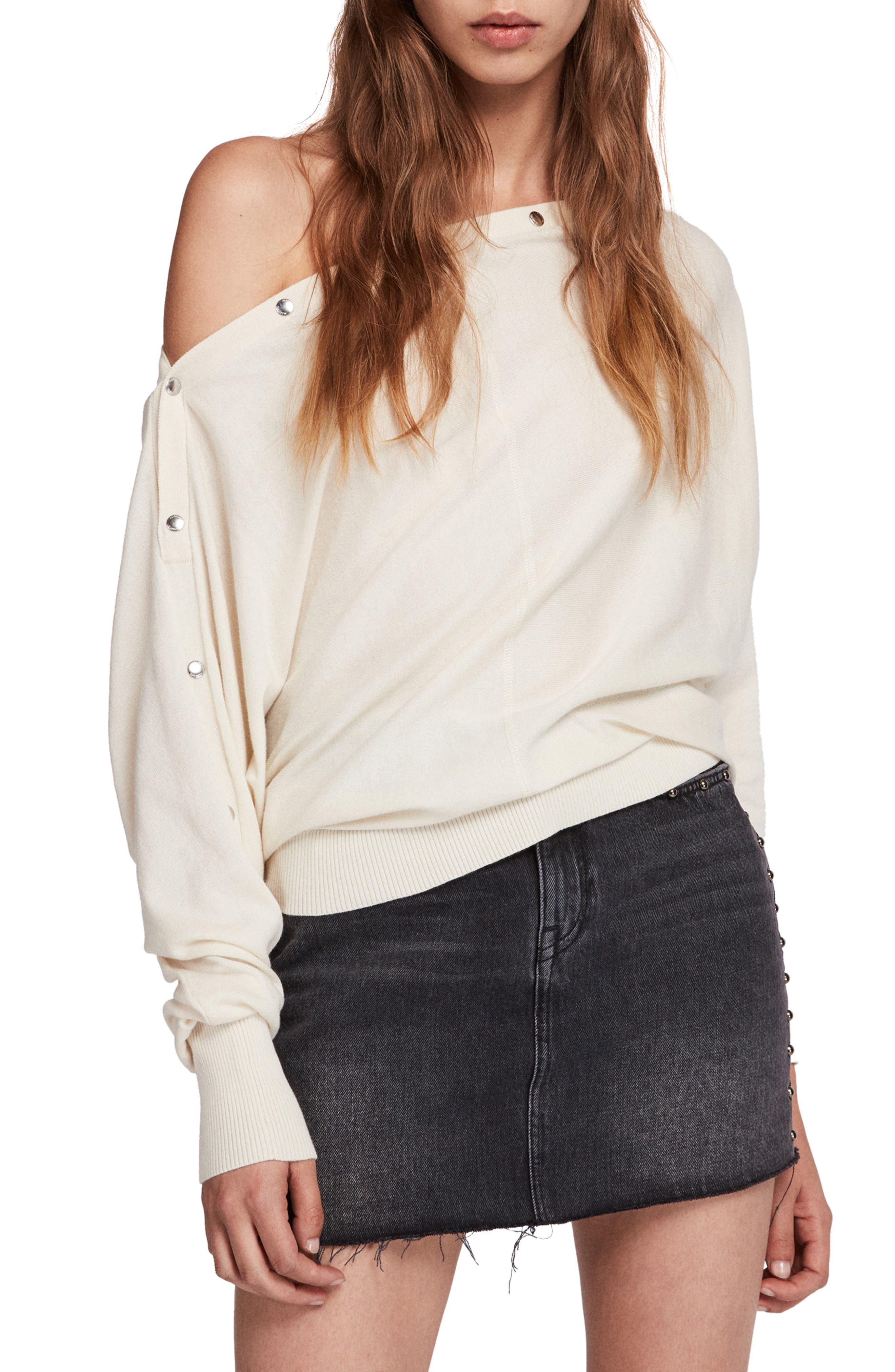 Elle Sweater,                         Main,                         color, CHALK WHITE