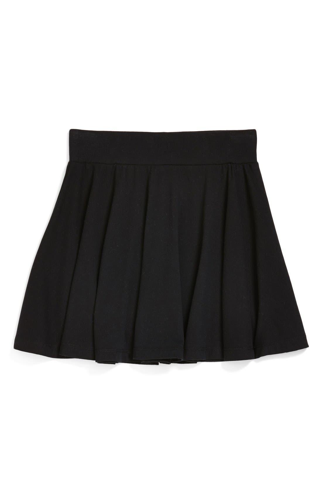 Ali Skater Skirt,                         Main,                         color, BLACK