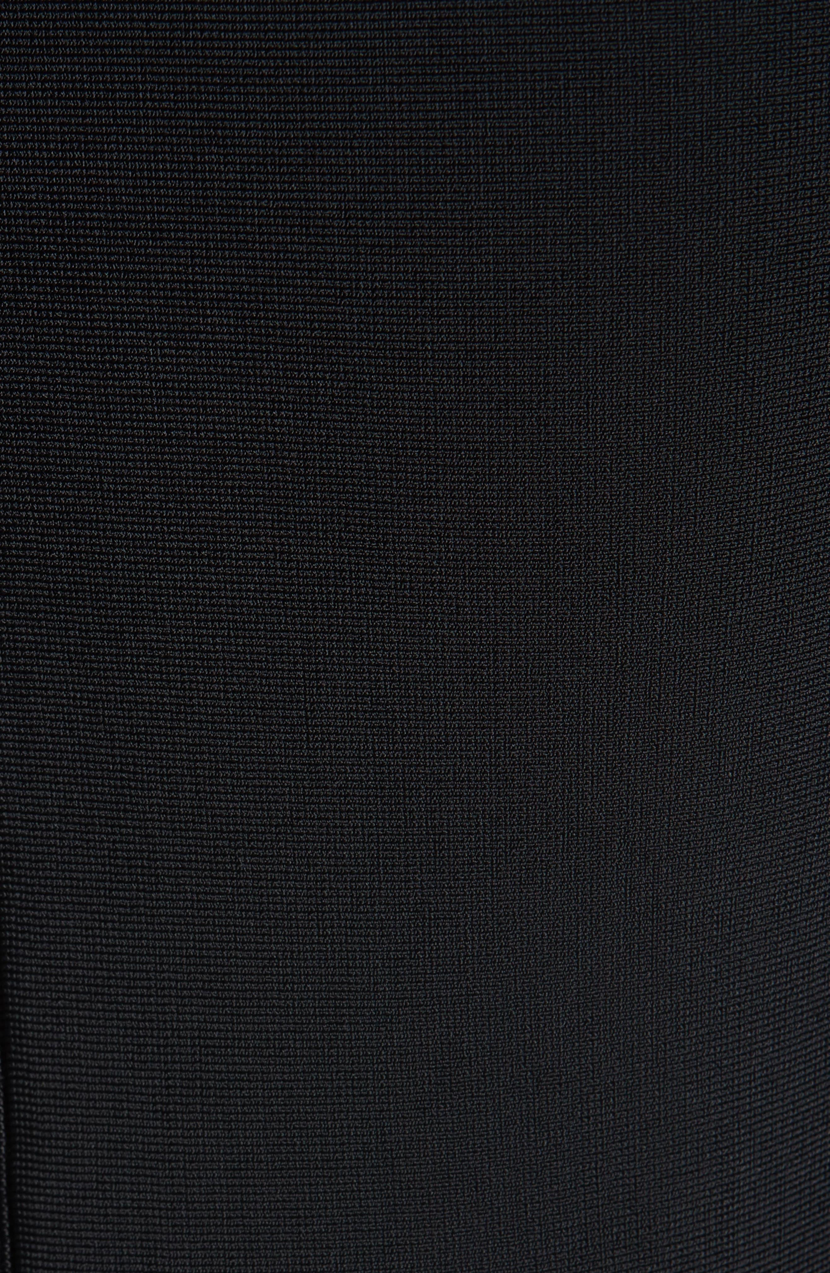 Glossed Peplum Sweater,                             Alternate thumbnail 5, color,                             BLACK