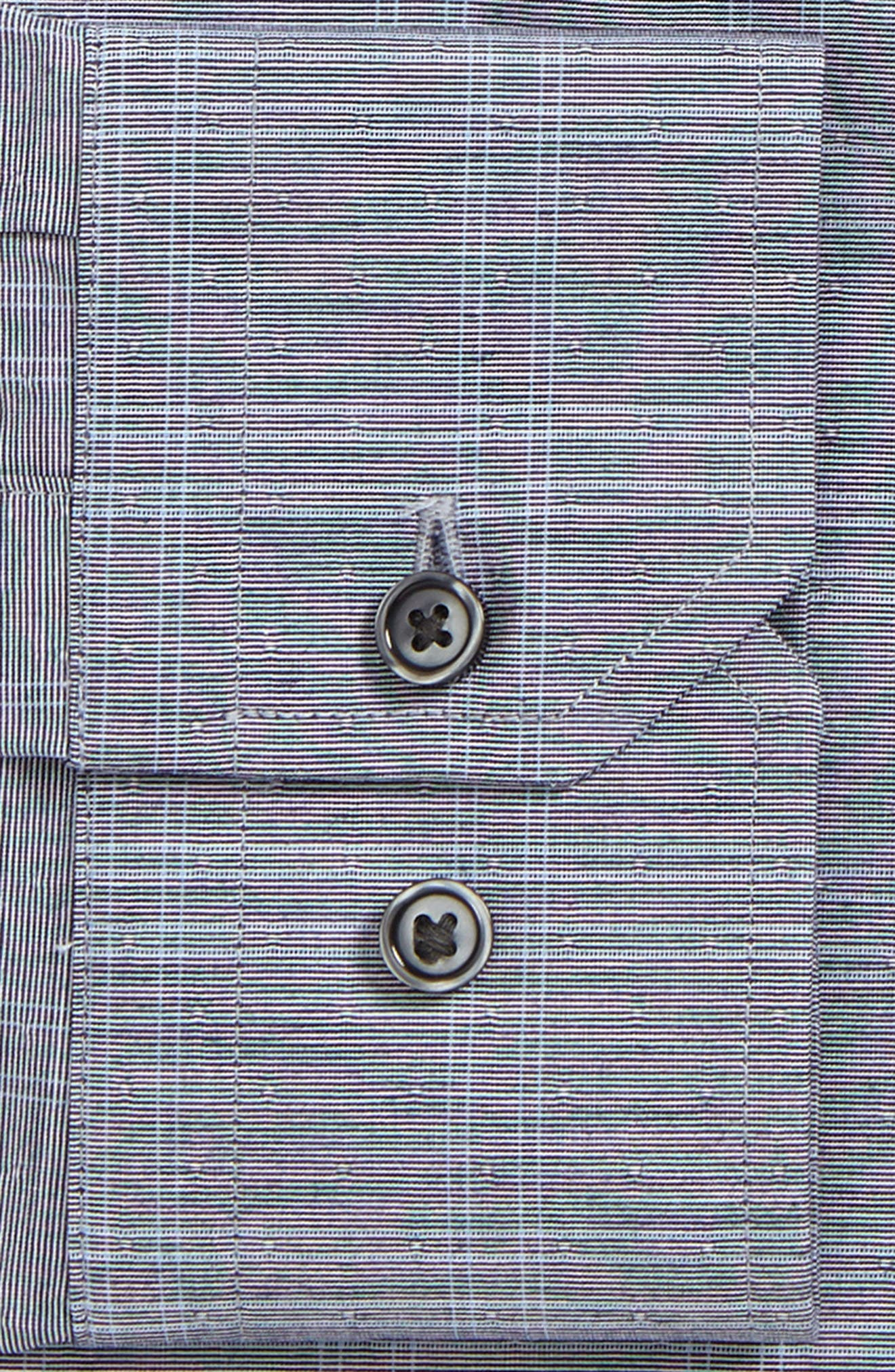 Trim Fit Non-Iron Stretch Check Dress Shirt,                             Alternate thumbnail 2, color,