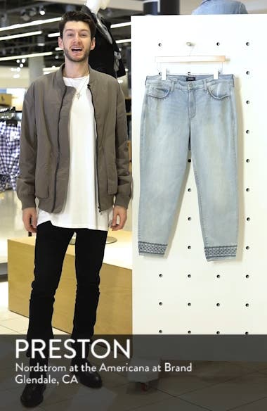 Ami Embroidered Ankle Skinny Jeans, sales video thumbnail