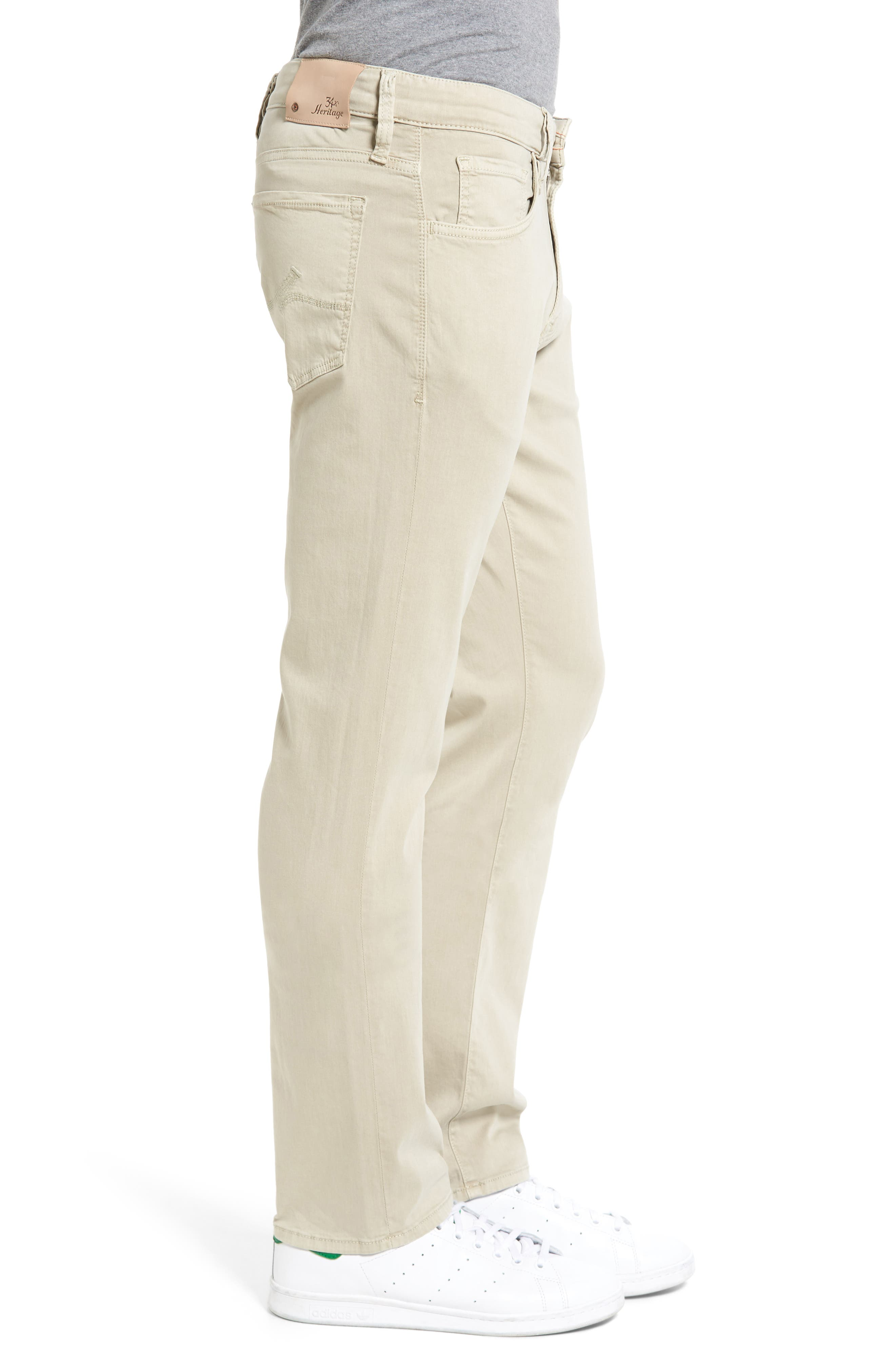 Courage Straight Leg Jeans,                             Alternate thumbnail 3, color,                             STONE TWILL
