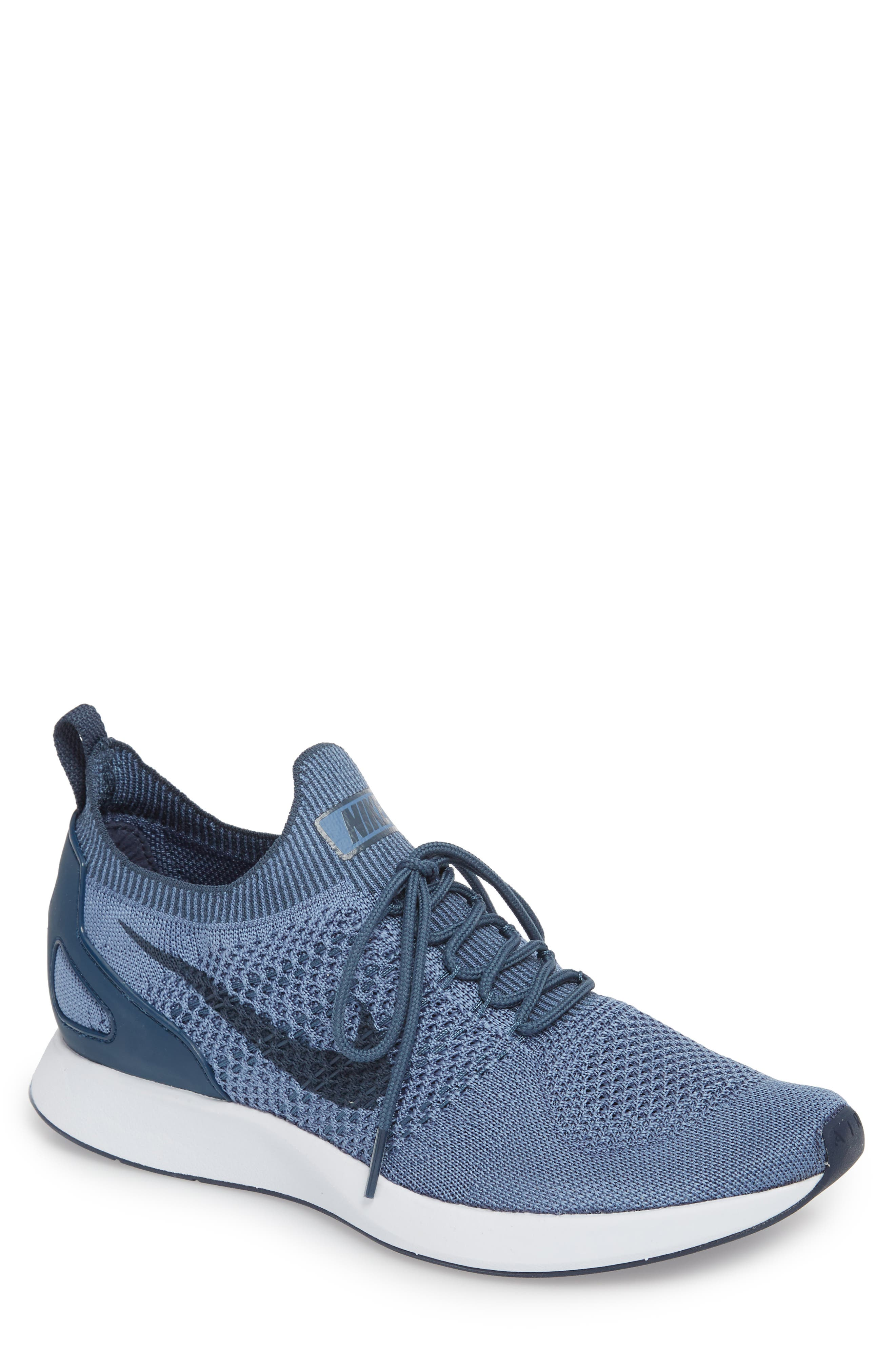 Air Zoom Mariah Flyknit Racer Sneaker,                             Main thumbnail 1, color,                             OCEAN FOG/ BLUE/ WHITE