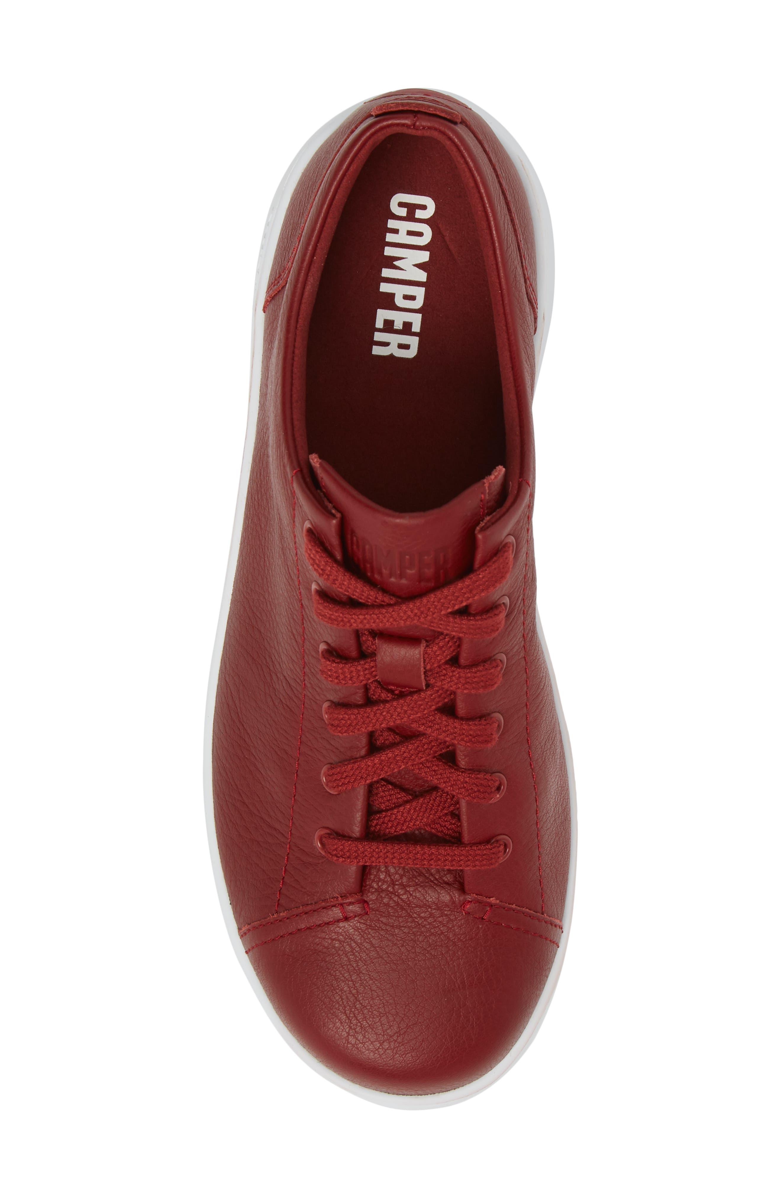 CAMPER,                             Runner Up Sneaker,                             Alternate thumbnail 5, color,                             DARK RED LEATHER