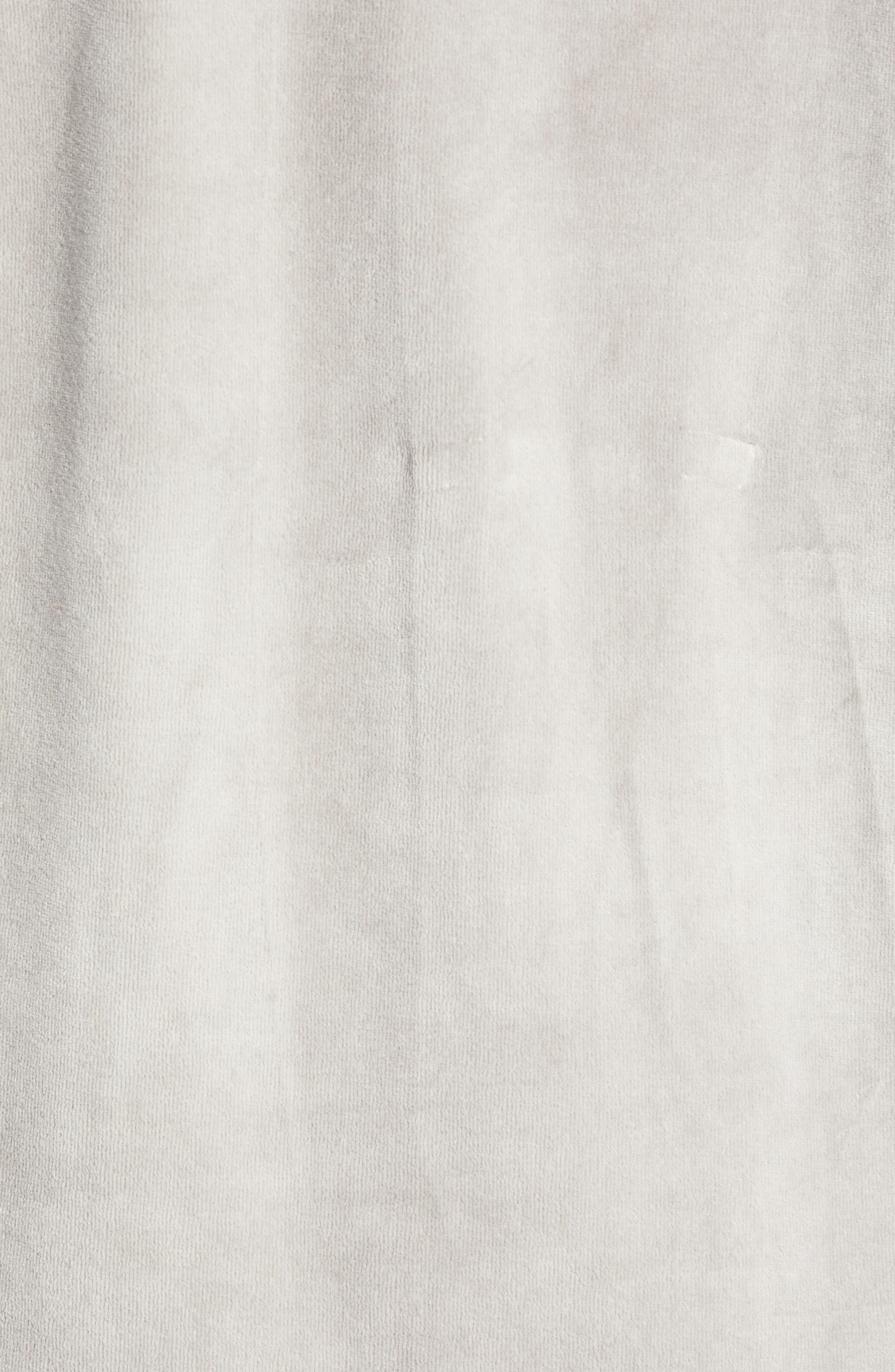 Authentic Aynset Velour Crewneck Sweatshirt,                             Alternate thumbnail 5, color,                             GREY MIST/ BLACK/ WHITE