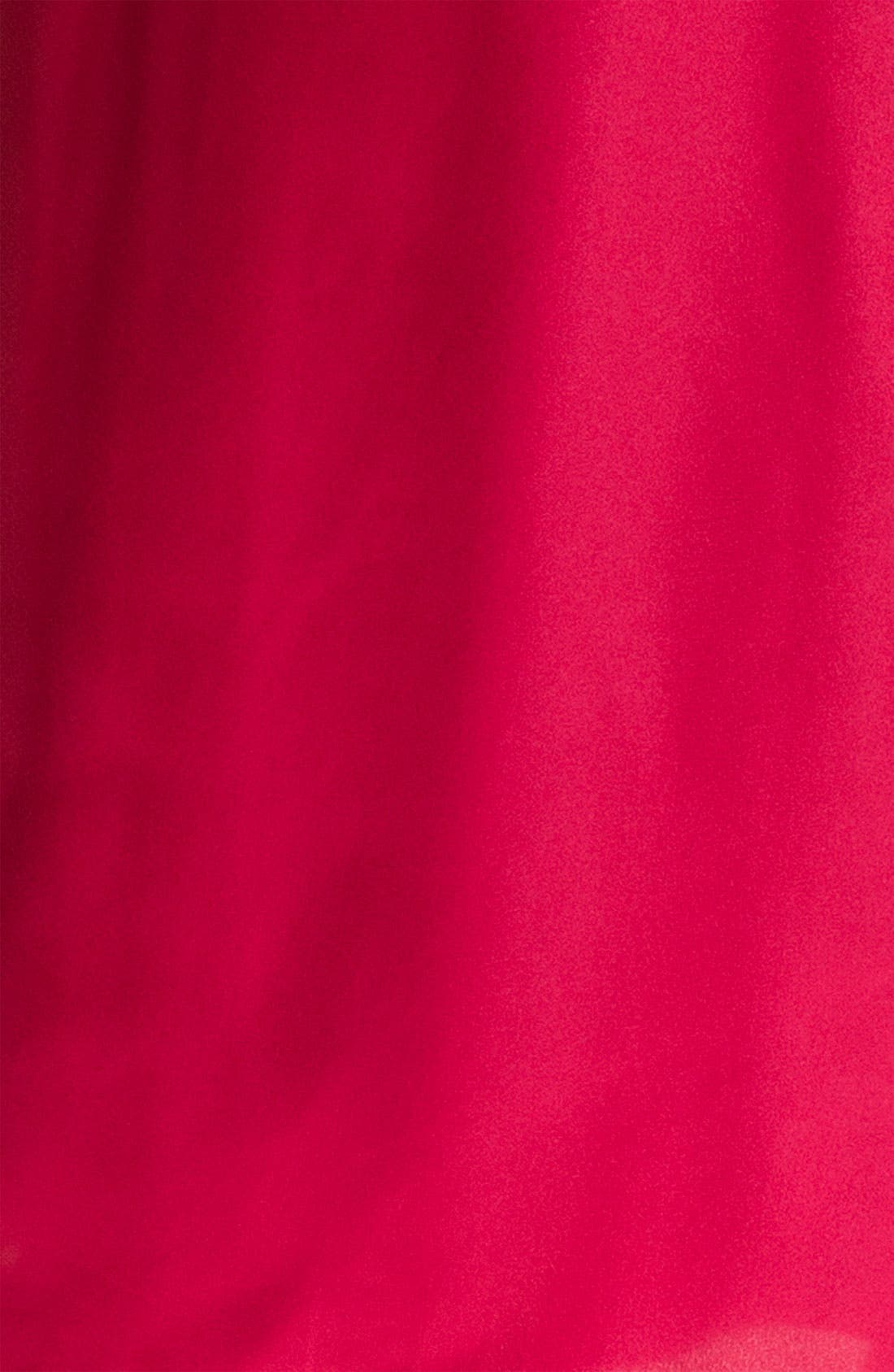 Sleepwear Lace Trim Charmeuse Robe,                             Alternate thumbnail 7, color,