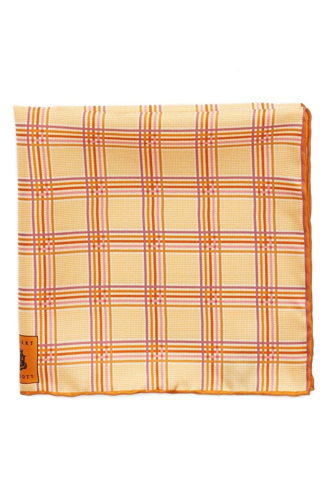 Plaid Silk Pocket Square,                             Main thumbnail 5, color,