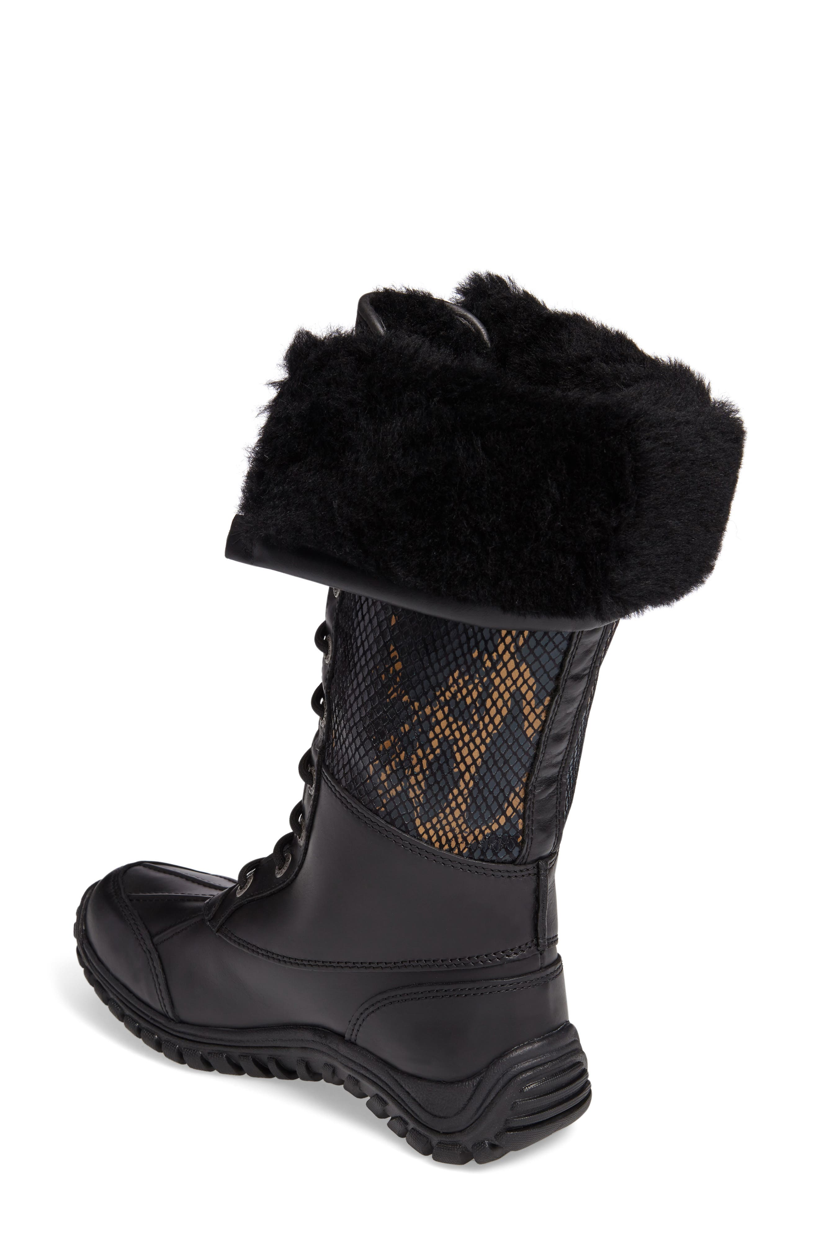 UGG<SUP>®</SUP>,                             Adirondack Tall Exotic Velvet Waterproof Winter Boot,                             Alternate thumbnail 2, color,                             001