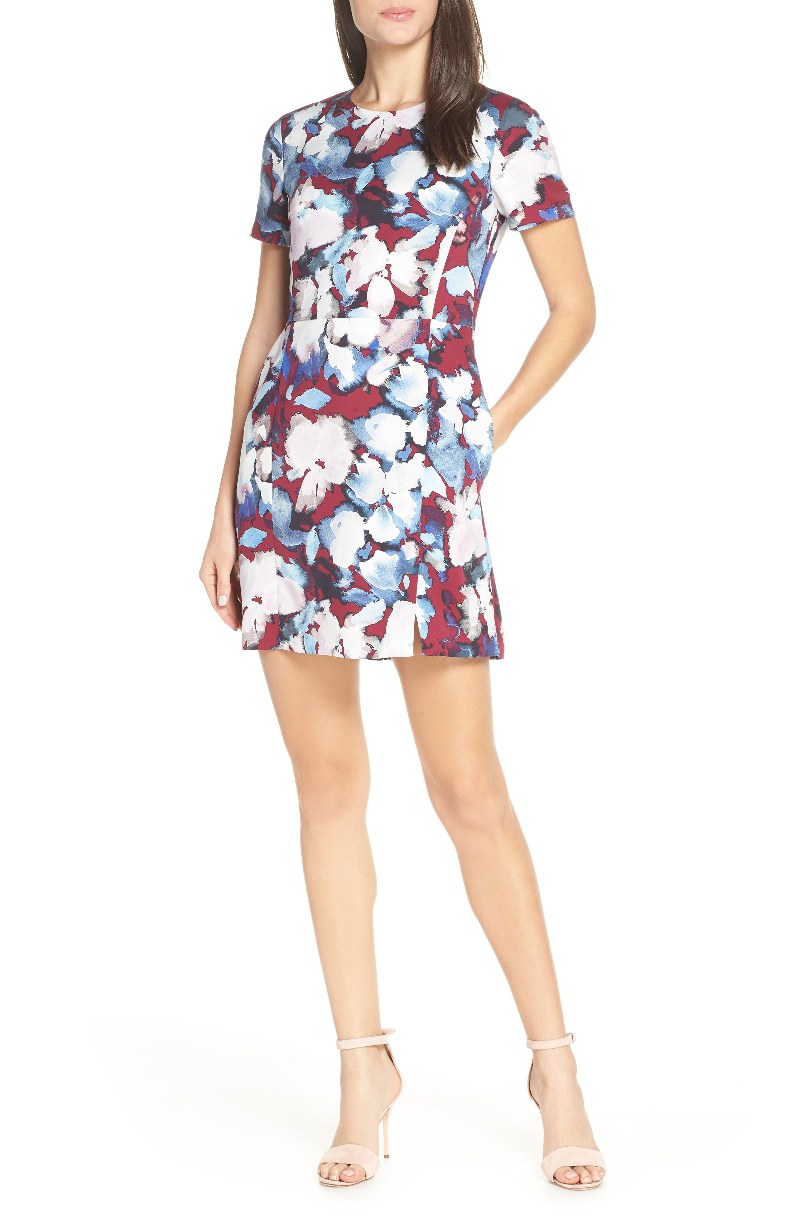 French Connection Eleanor Sheath Dress, Red