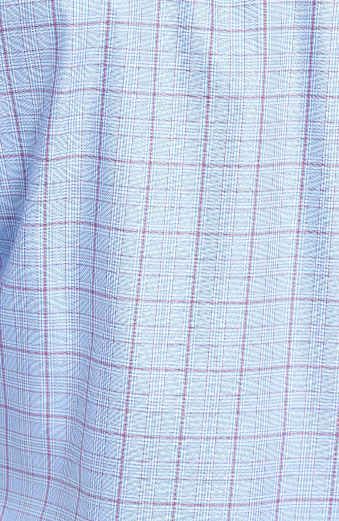 Shaped Fit Check Sport Shirt,                             Alternate thumbnail 3, color,                             459