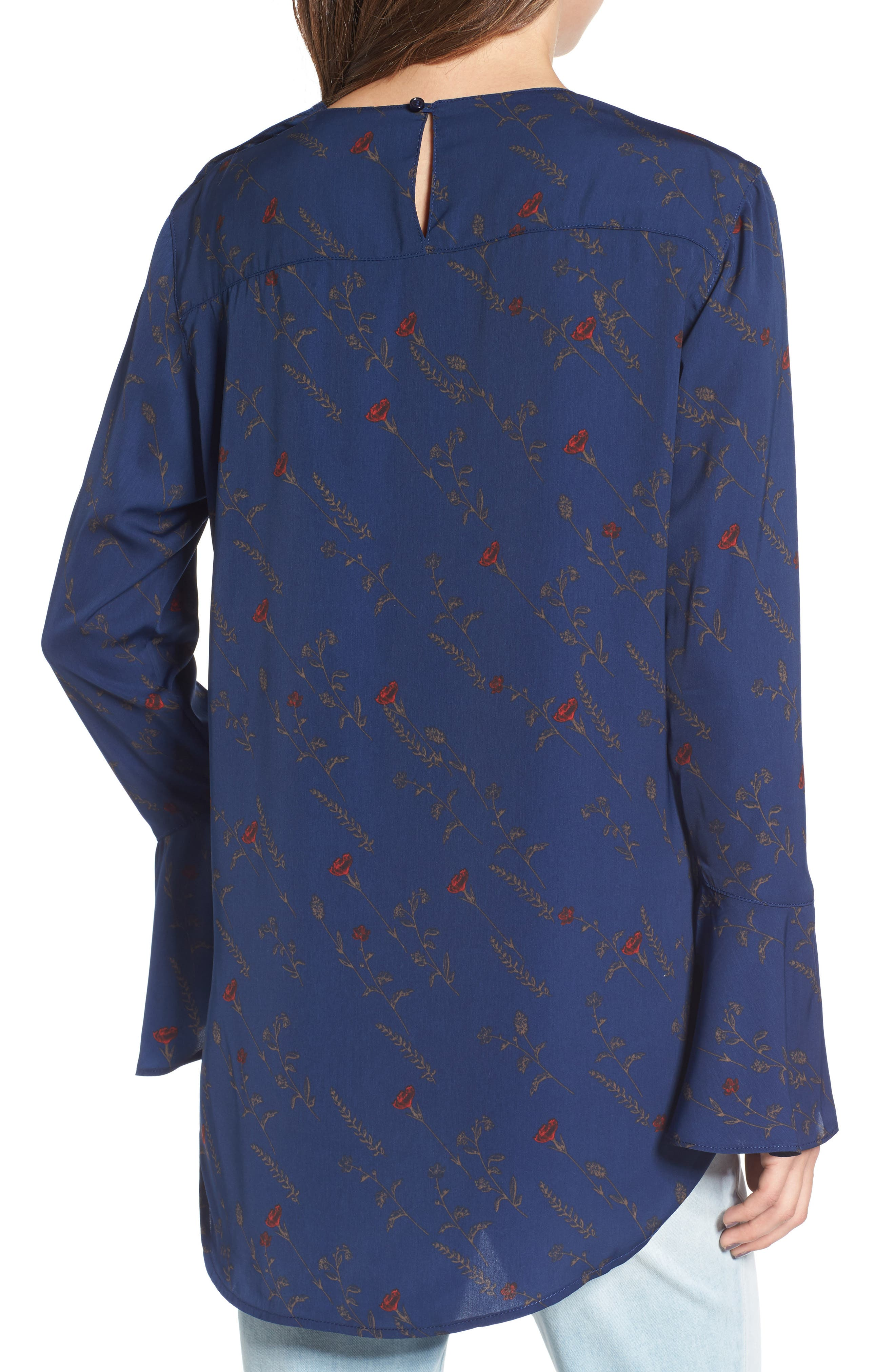 Bell Sleeve Top,                             Alternate thumbnail 2, color,                             400