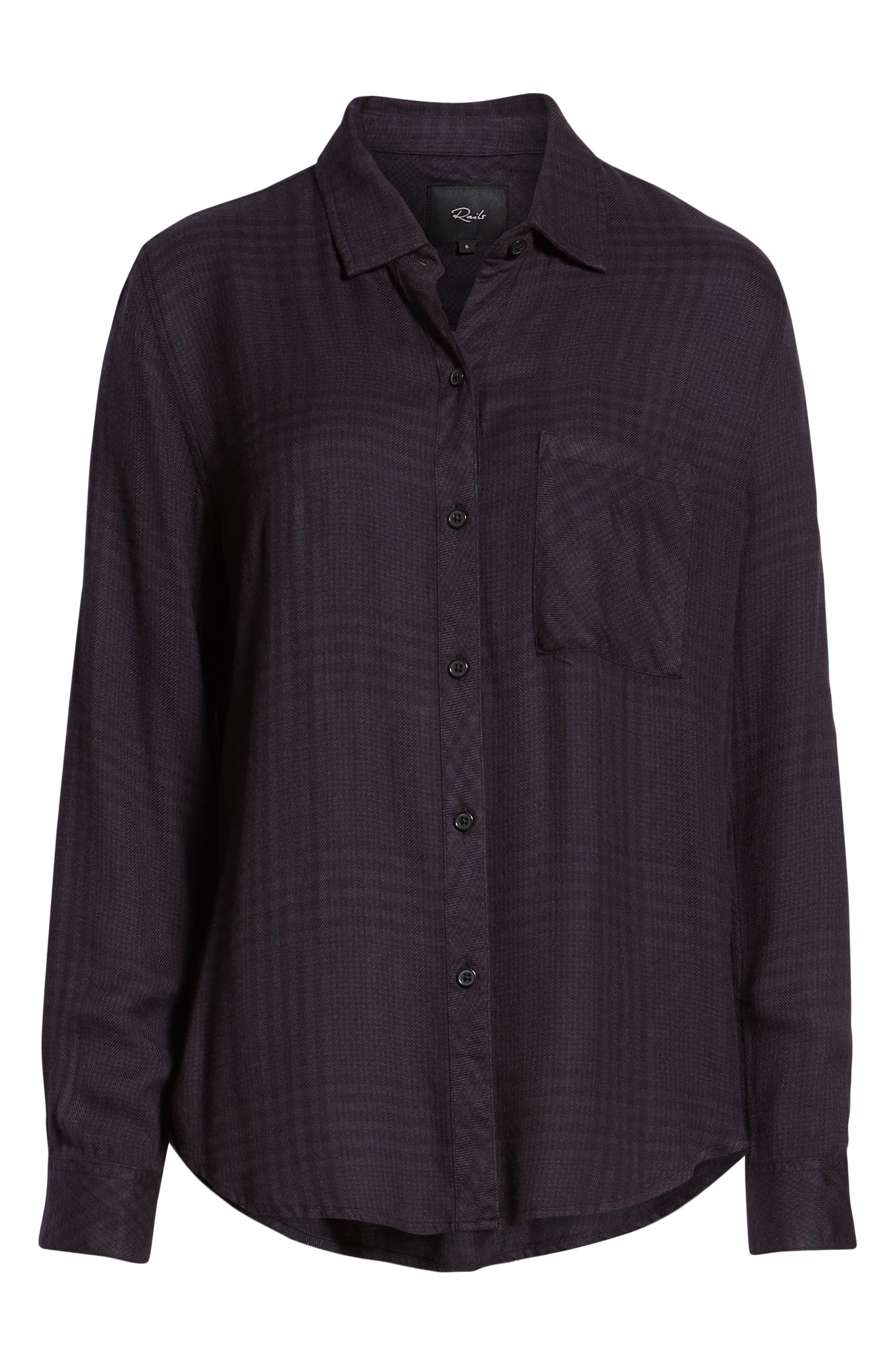 Hunter Plaid Shirt,                             Alternate thumbnail 7, color,                             CHARCOAL SHADOW