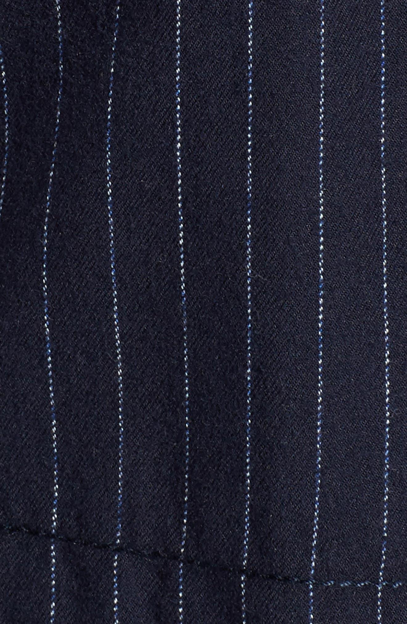 Pinstripe Utility Jacket,                             Alternate thumbnail 6, color,