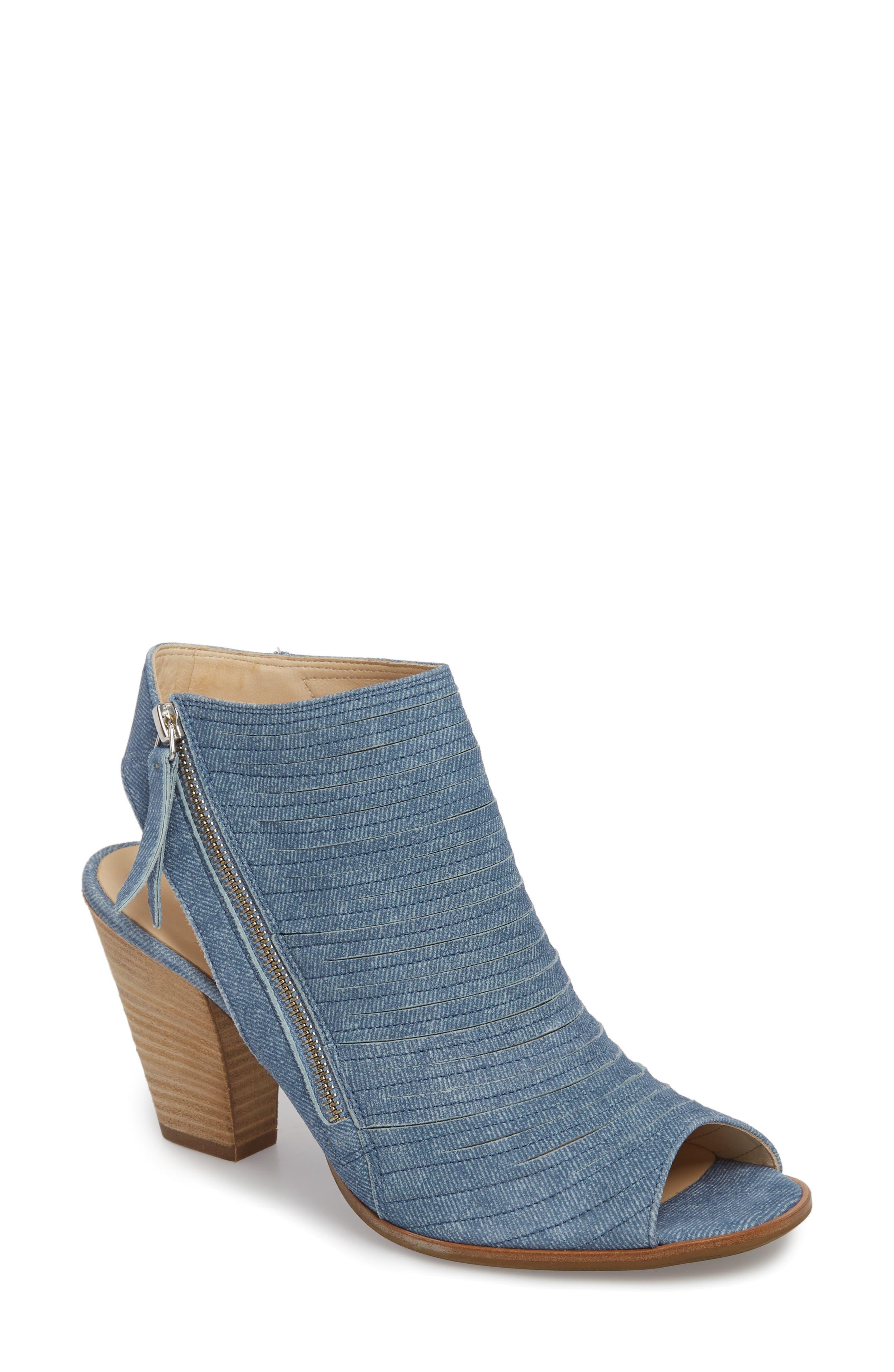 'Cayanne' Leather Peep Toe Sandal,                             Main thumbnail 2, color,