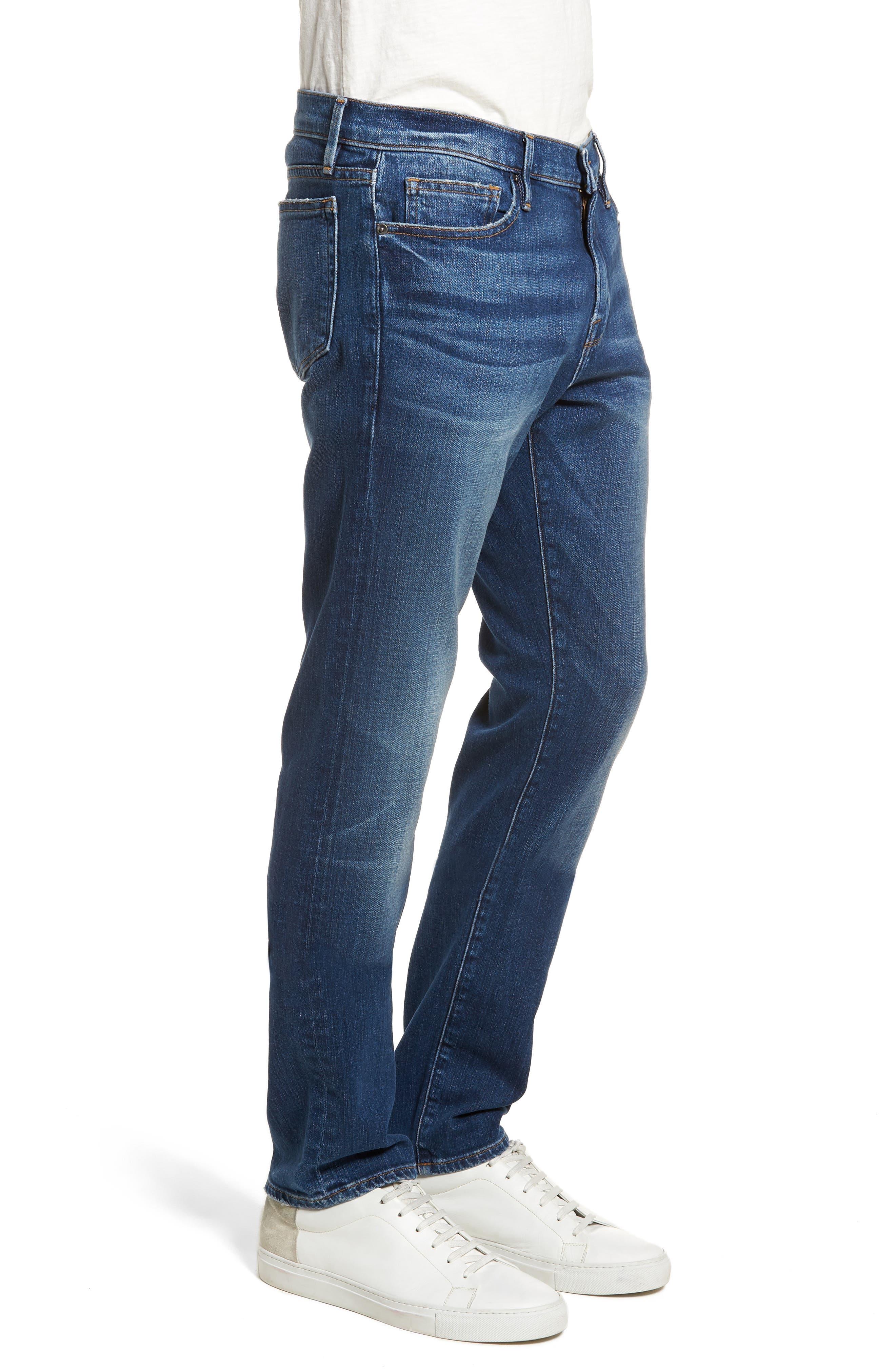 L'Homme Skinny Fit Jeans,                             Alternate thumbnail 3, color,                             420