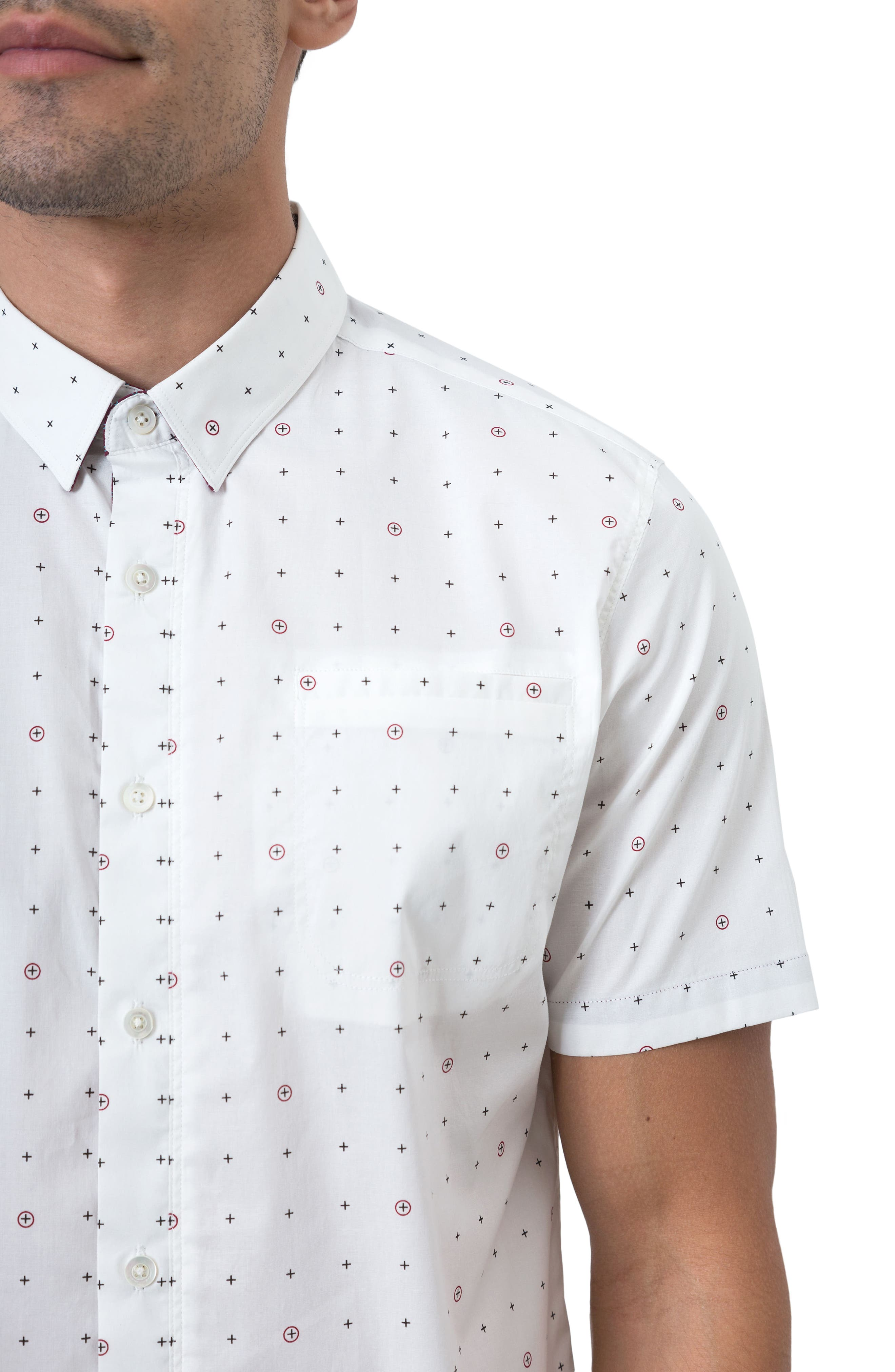 Holiday in Spain Woven Shirt,                             Alternate thumbnail 4, color,                             109