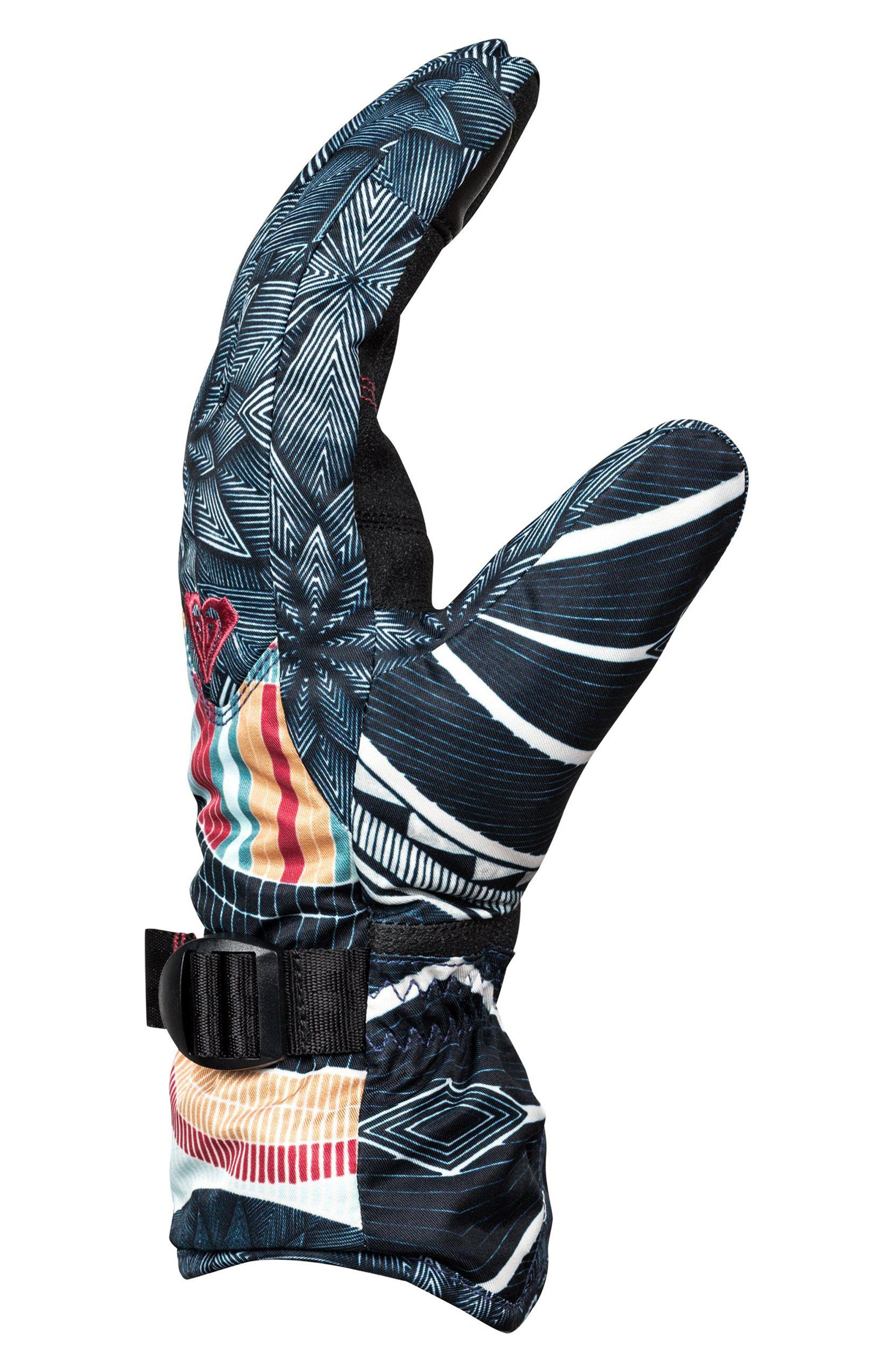 Jetty Print Snow Sport Gloves,                             Alternate thumbnail 2, color,                             002