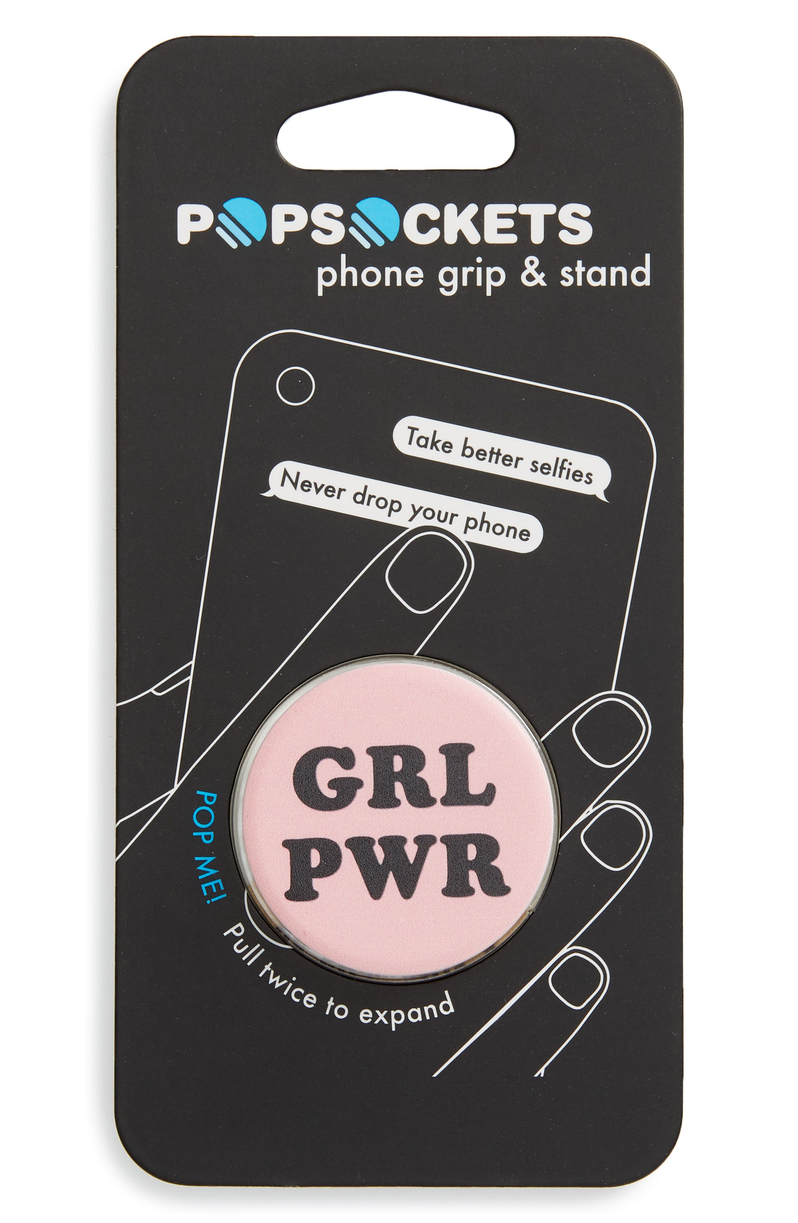 Cell Phone Grip & Stand,                             Main thumbnail 1, color,                             GRL POWER