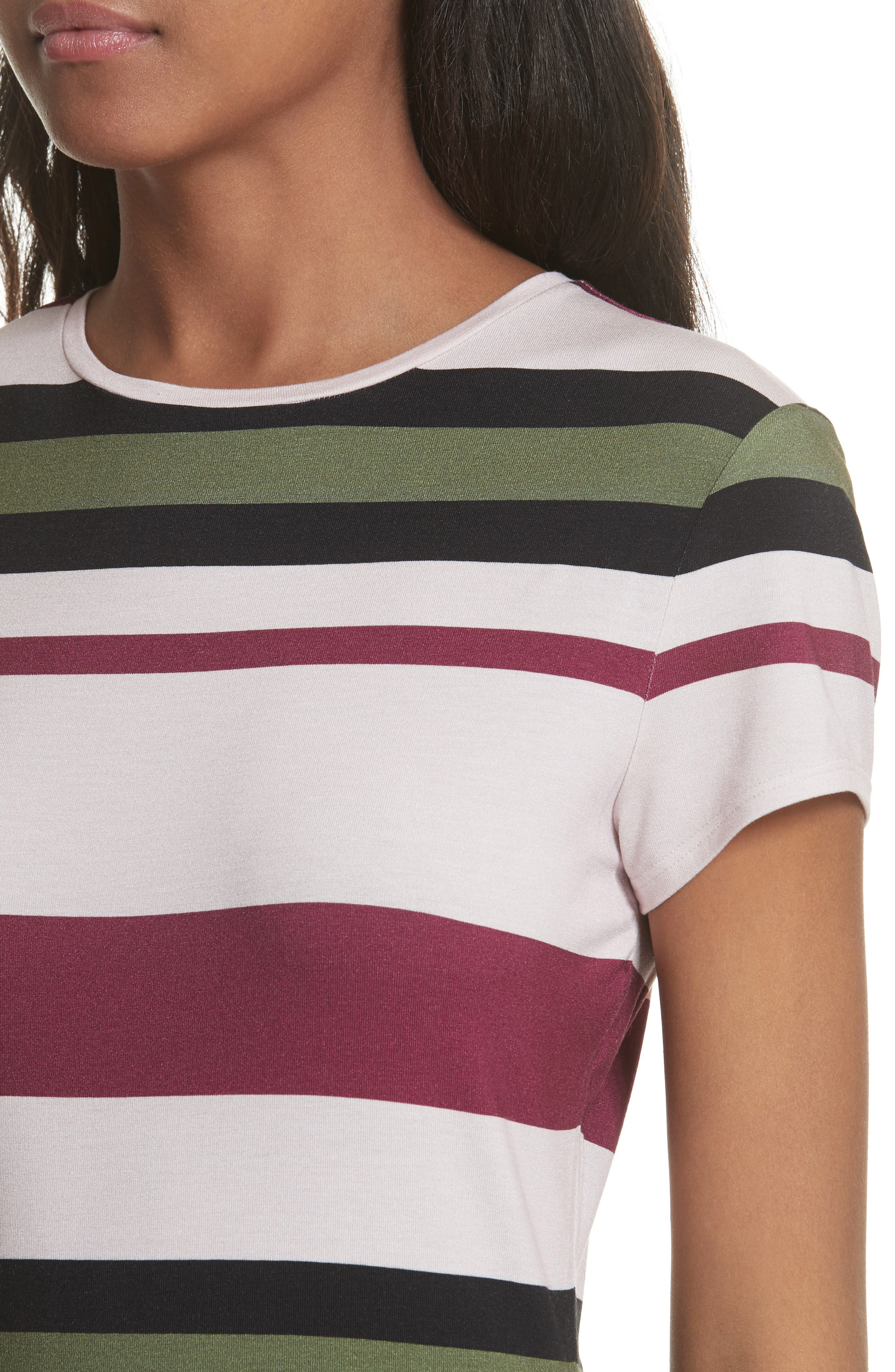 Imperial Stripe Fitted Tee,                             Alternate thumbnail 4, color,