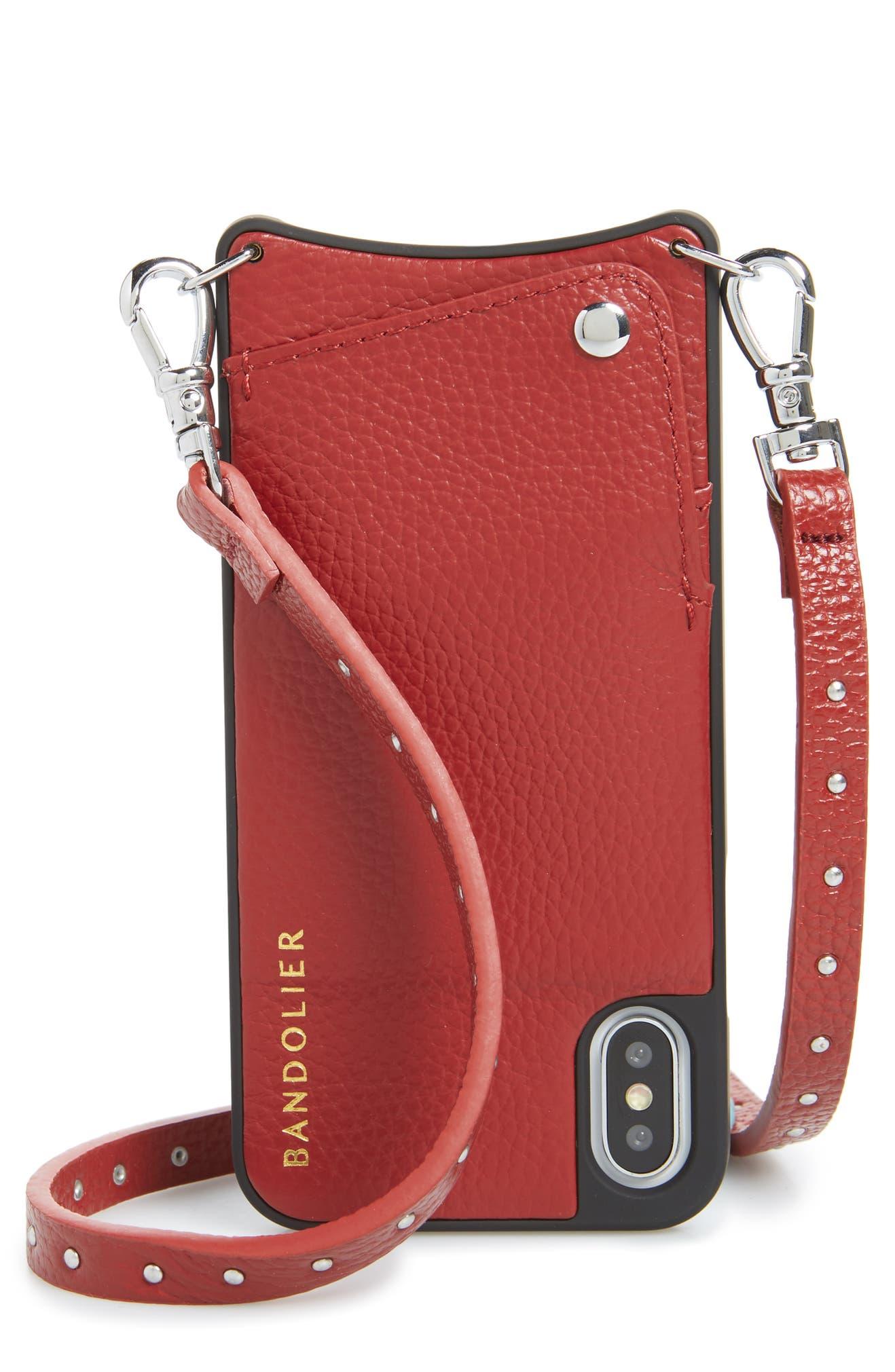 119dbdfddd87 Bandolier Nicole Pebbled Leather X Xs Xs Max   XR Crossbody Case ...