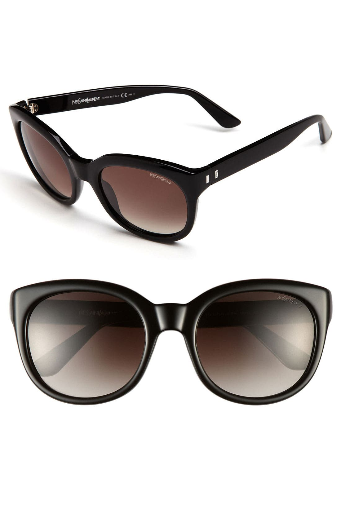 Saint Laurent Cat's Eye Sunglasses,                             Main thumbnail 1, color,