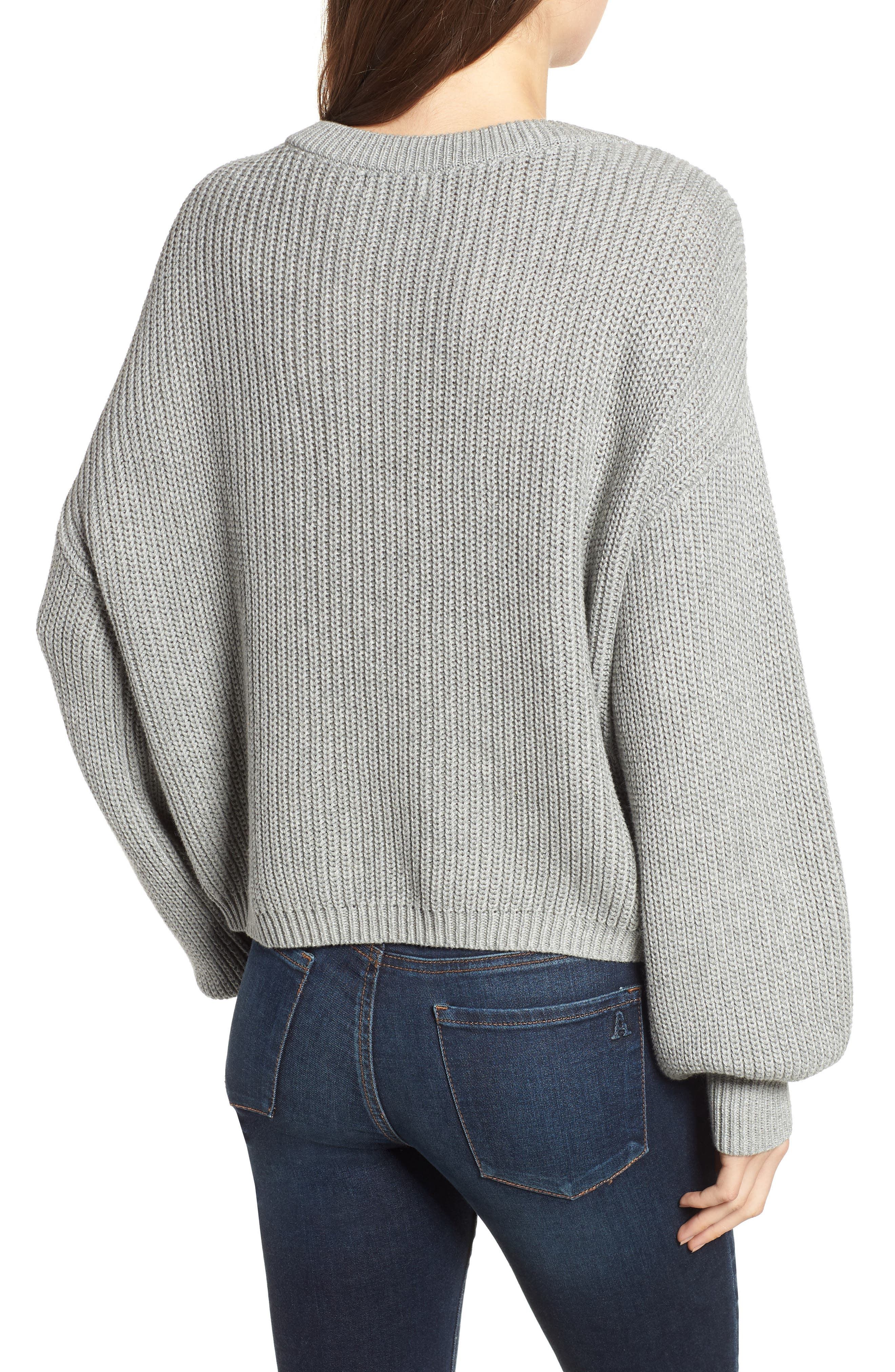 V Neck Cotton Sweater,                             Alternate thumbnail 2, color,                             030