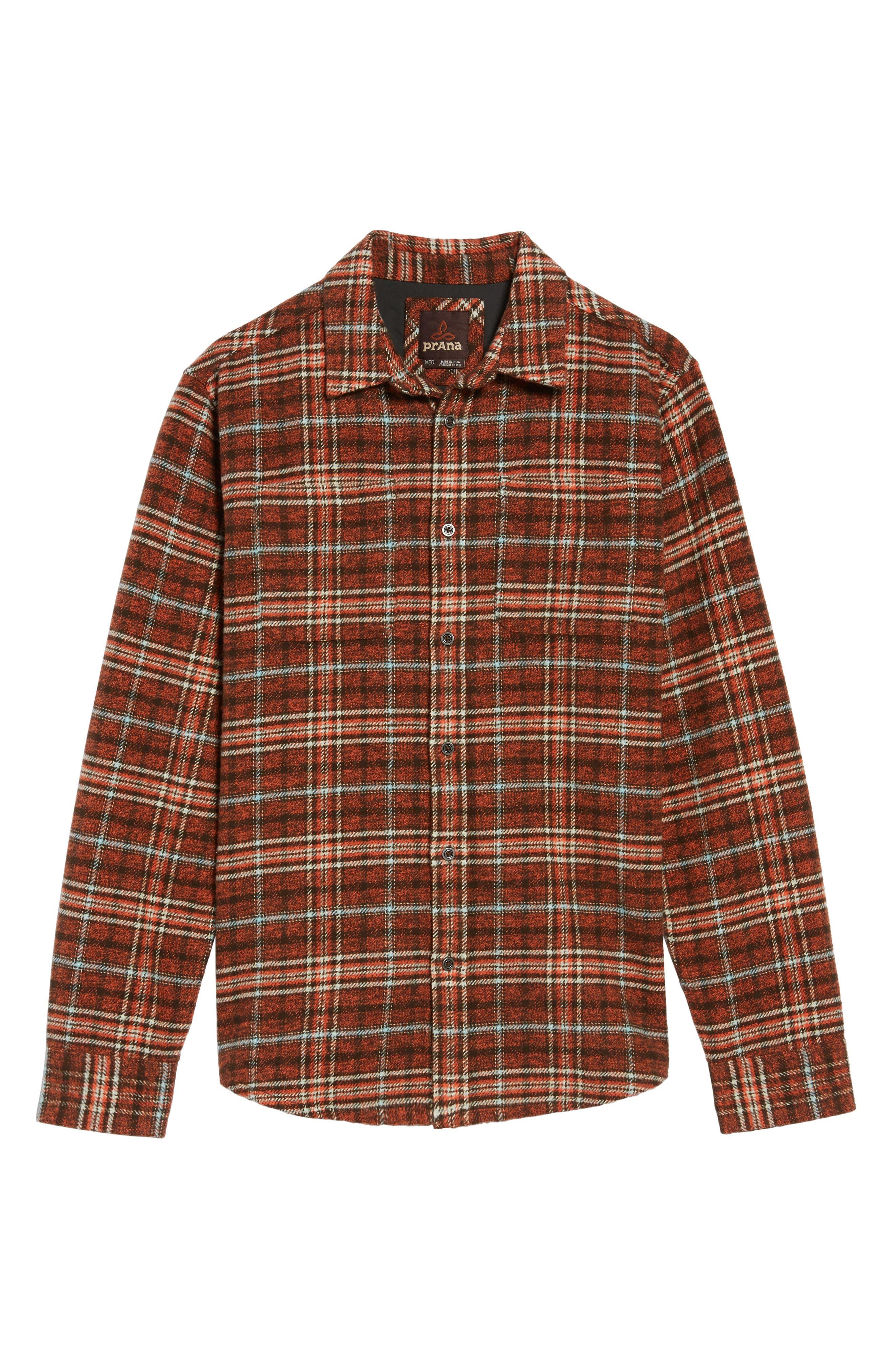 Brayden Regular Fit Plaid Flannel Shirt,                             Alternate thumbnail 12, color,
