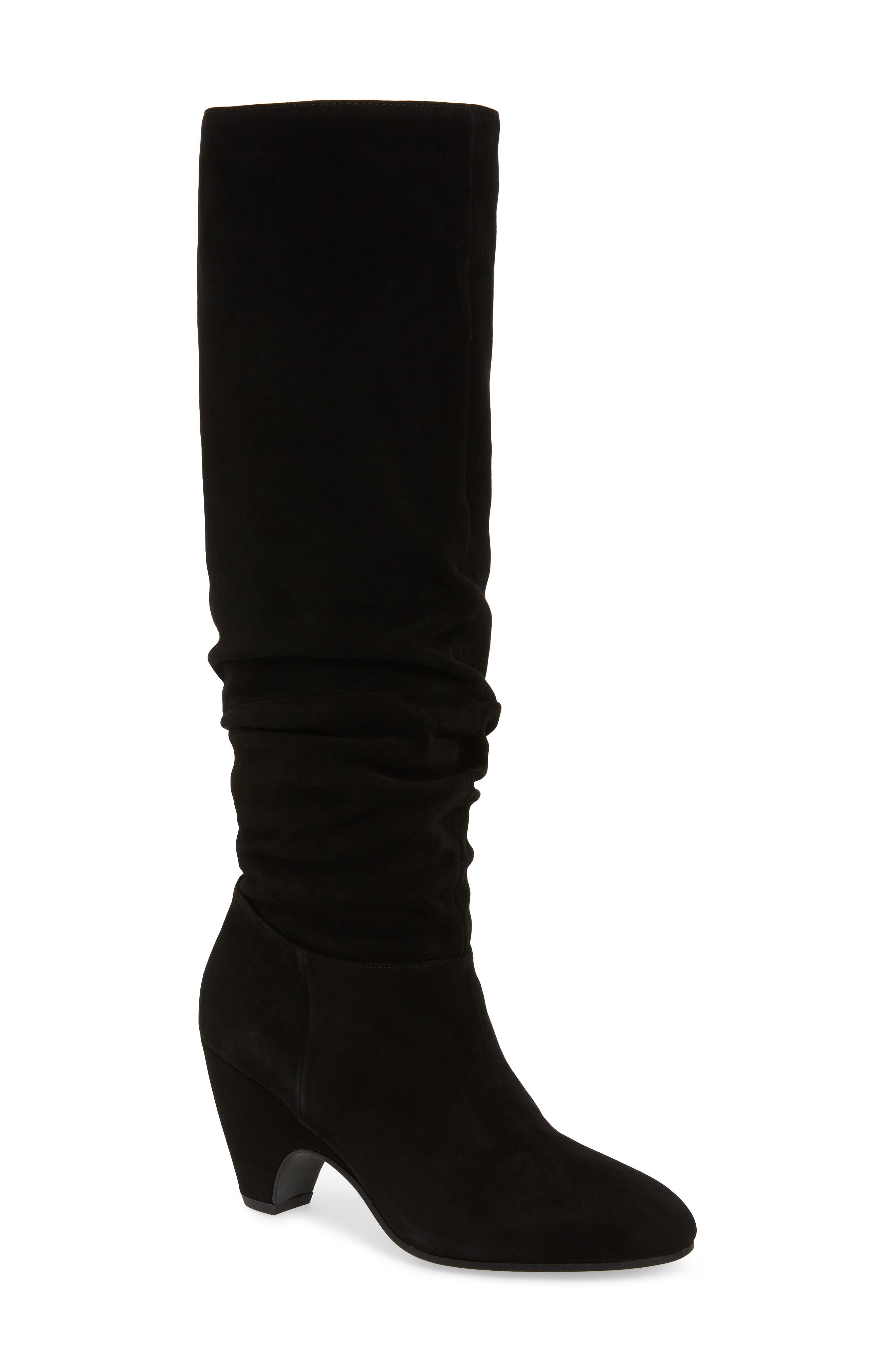 Ditto Knee High Boot,                             Main thumbnail 1, color,                             BLACK SUEDE