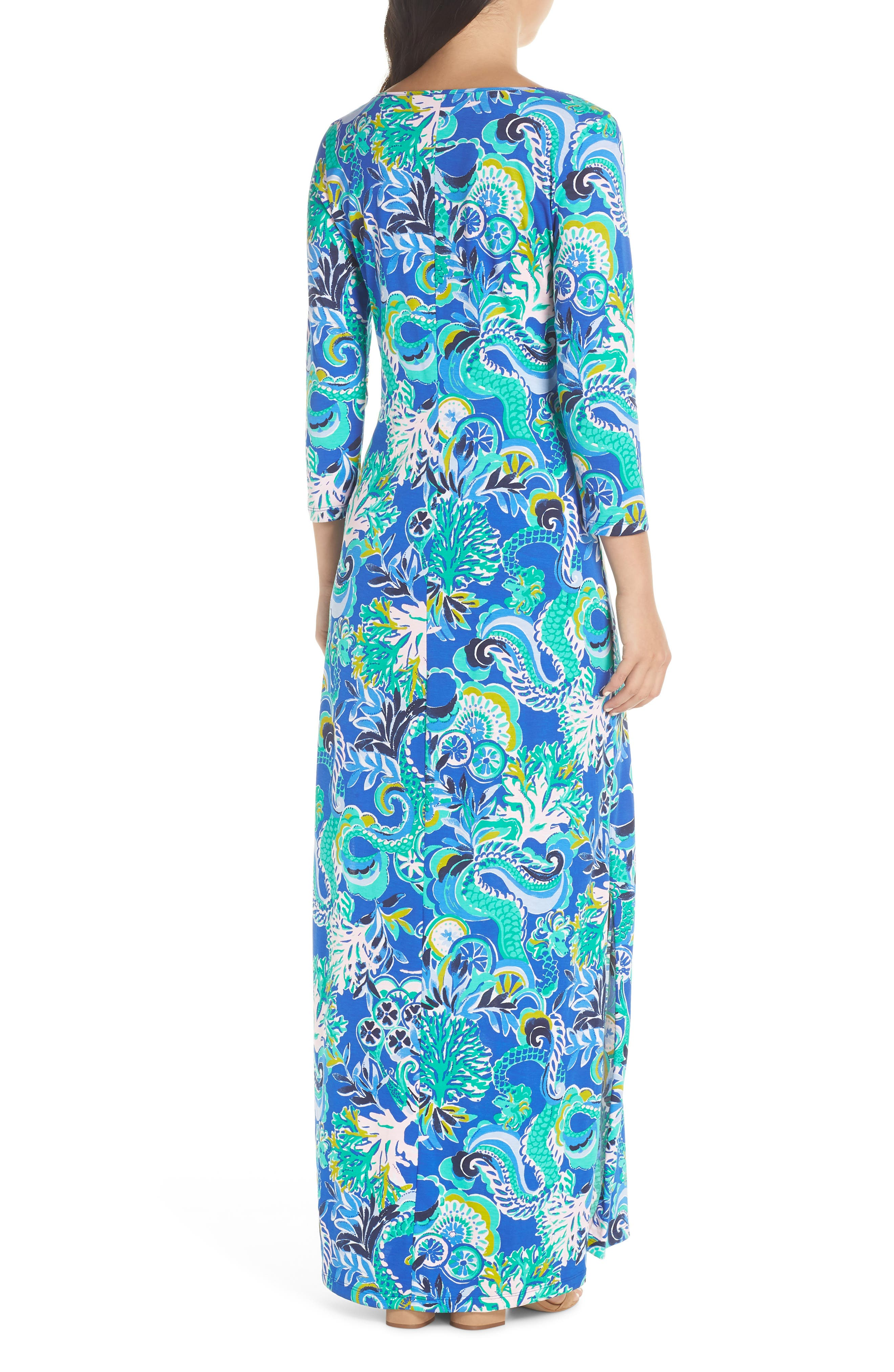 Anissa Maxi Dress,                             Alternate thumbnail 2, color,                             BLUE GROTTO SIRENS AND SPIRITS