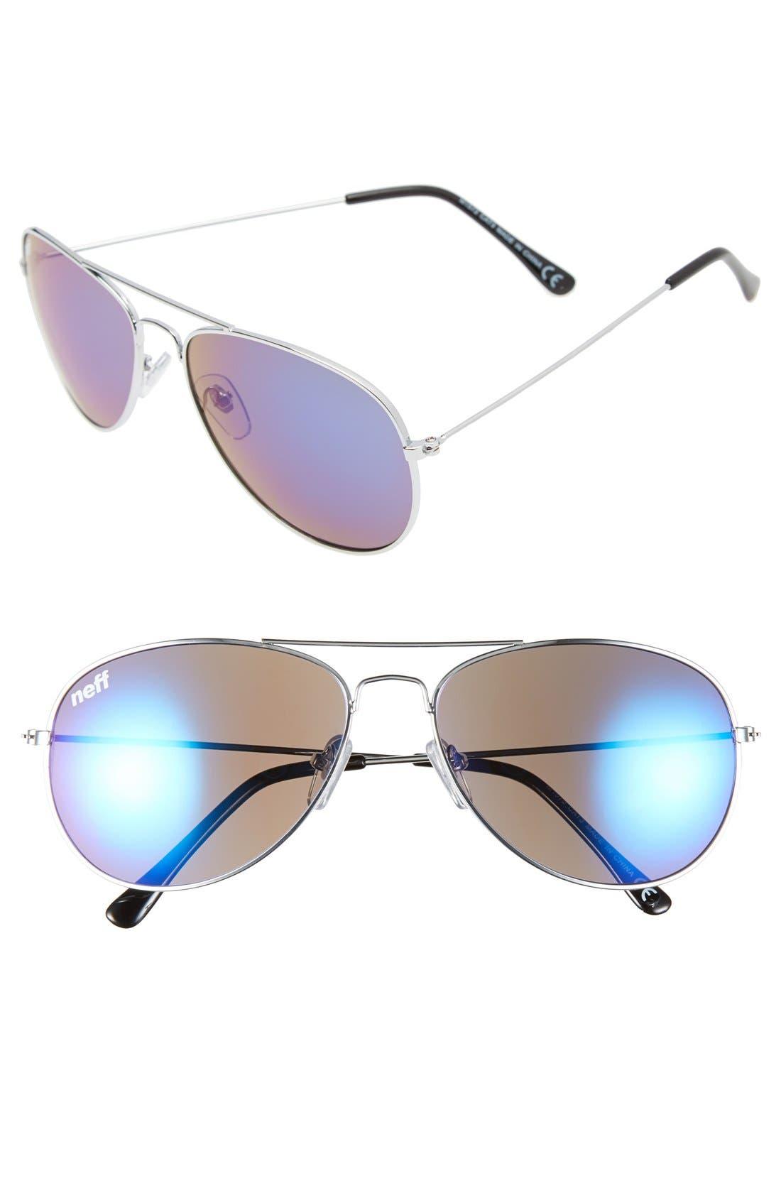 'Bronz' Aviator Sunglasses, 59mm,                         Main,                         color, 041
