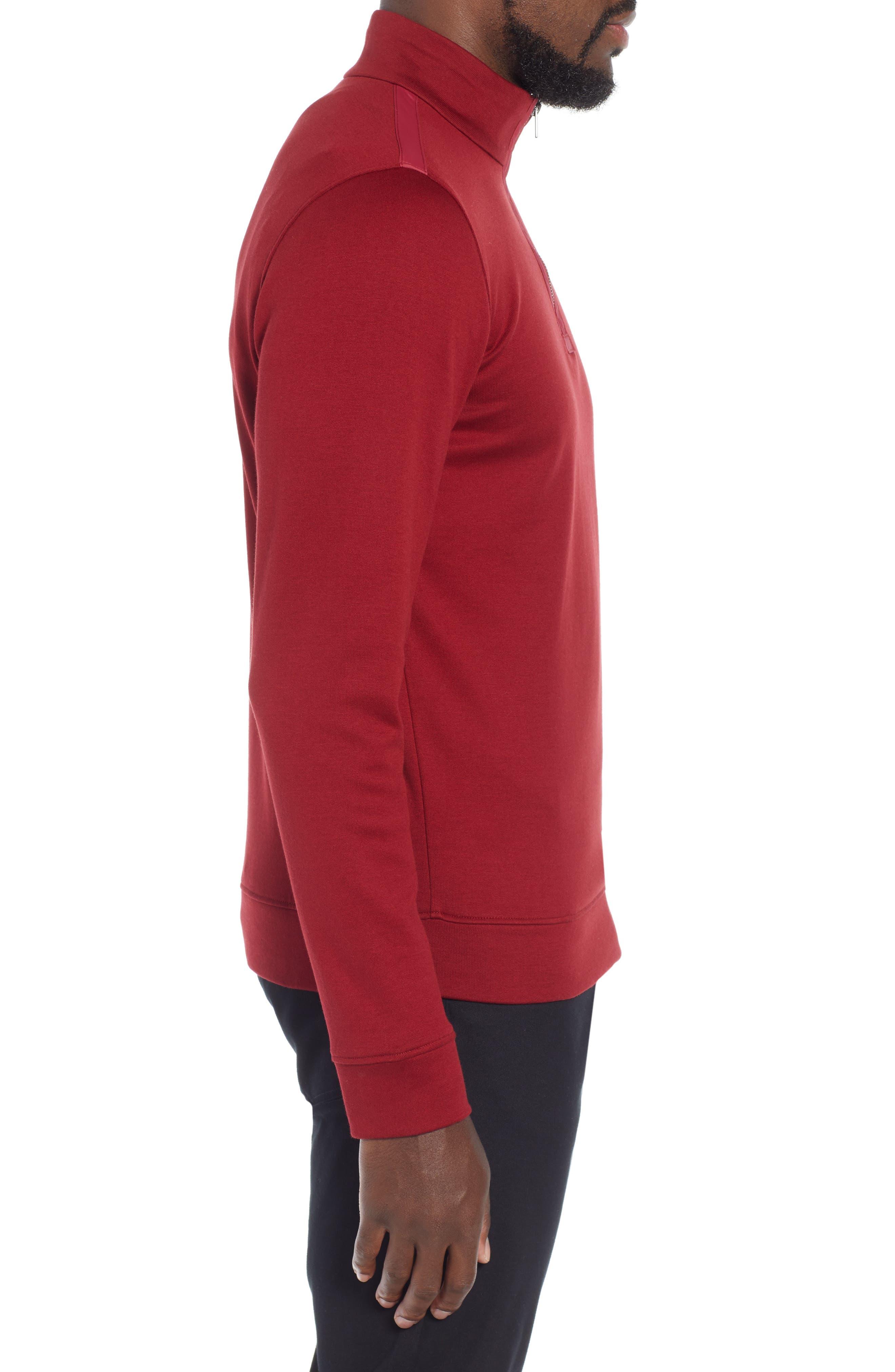 Sidney Quarter Zip Pullover,                             Alternate thumbnail 3, color,                             RED