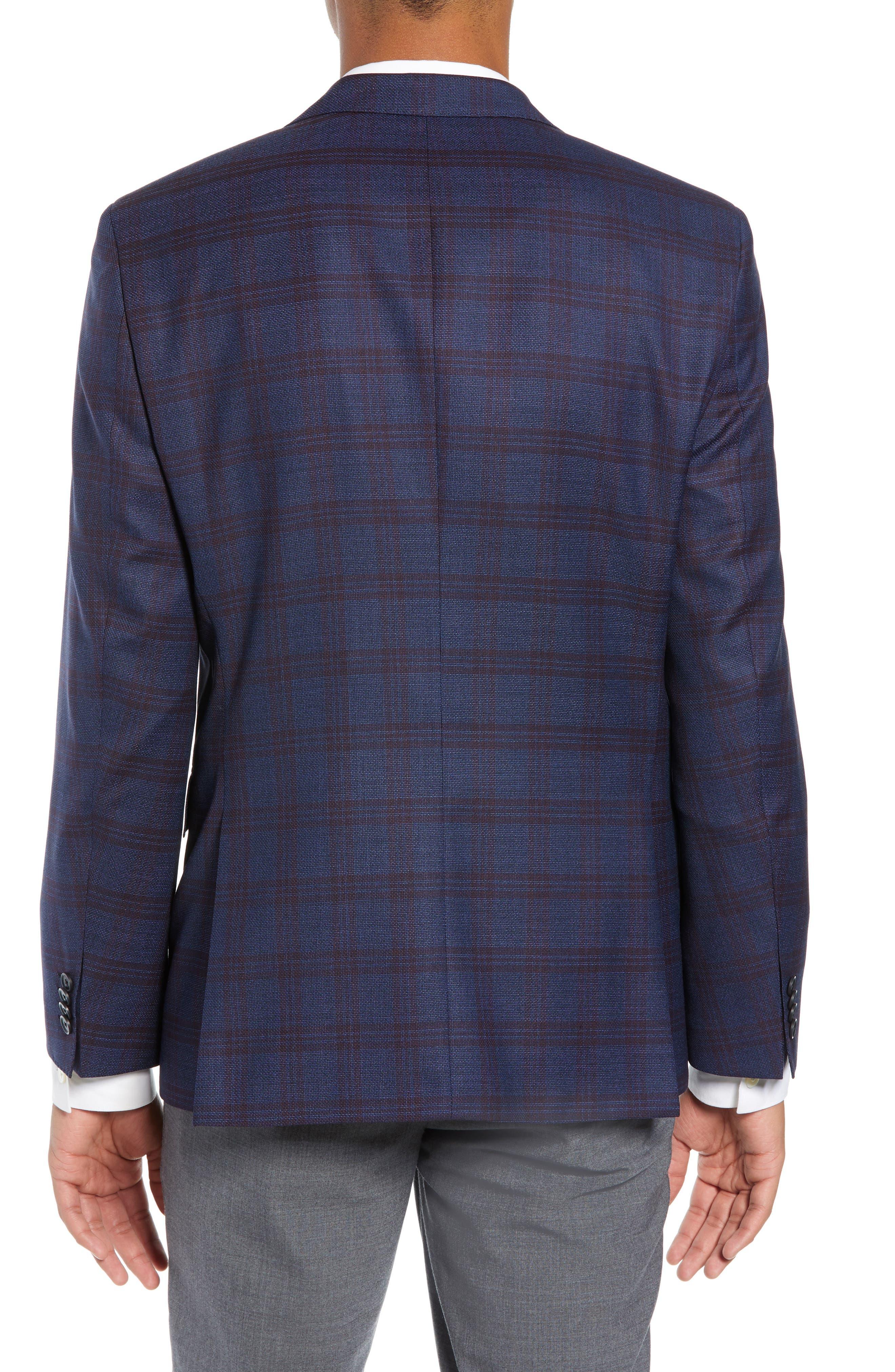 Jewels Classic Fit Plaid Wool Sport Coat,                             Alternate thumbnail 2, color,                             OPEN BLUE