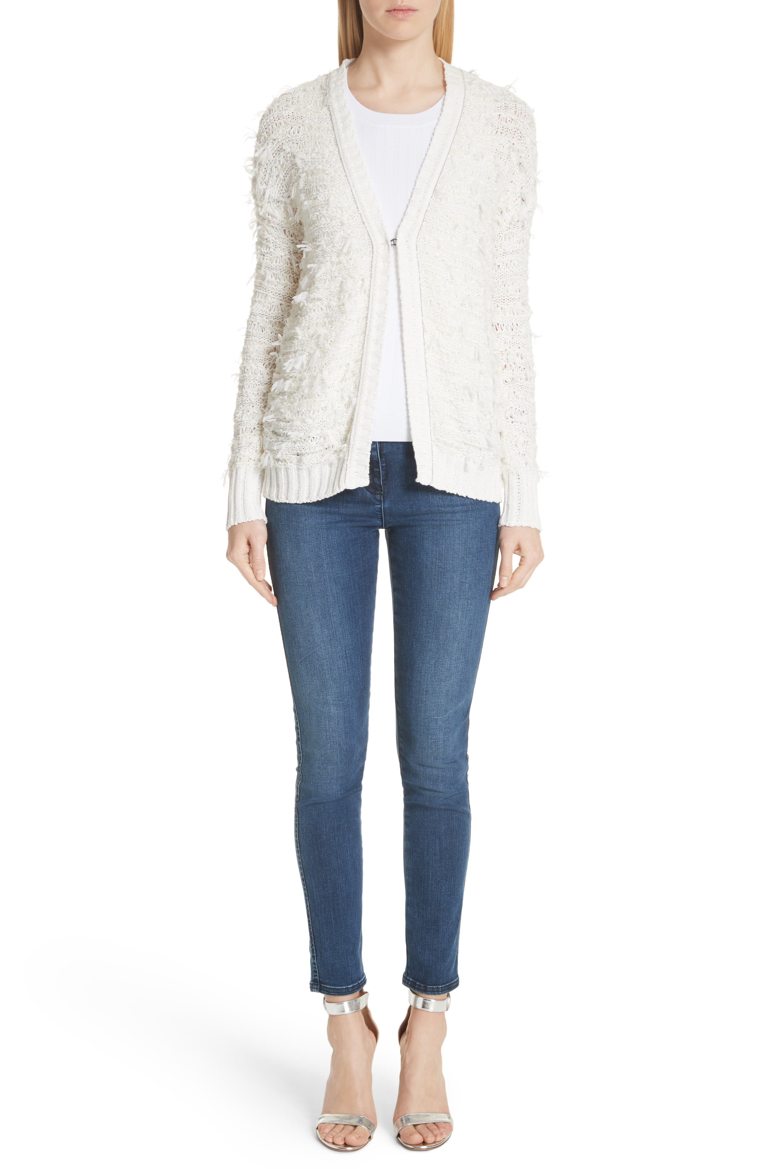 Tufted Knit Cardigan,                             Alternate thumbnail 7, color,                             900