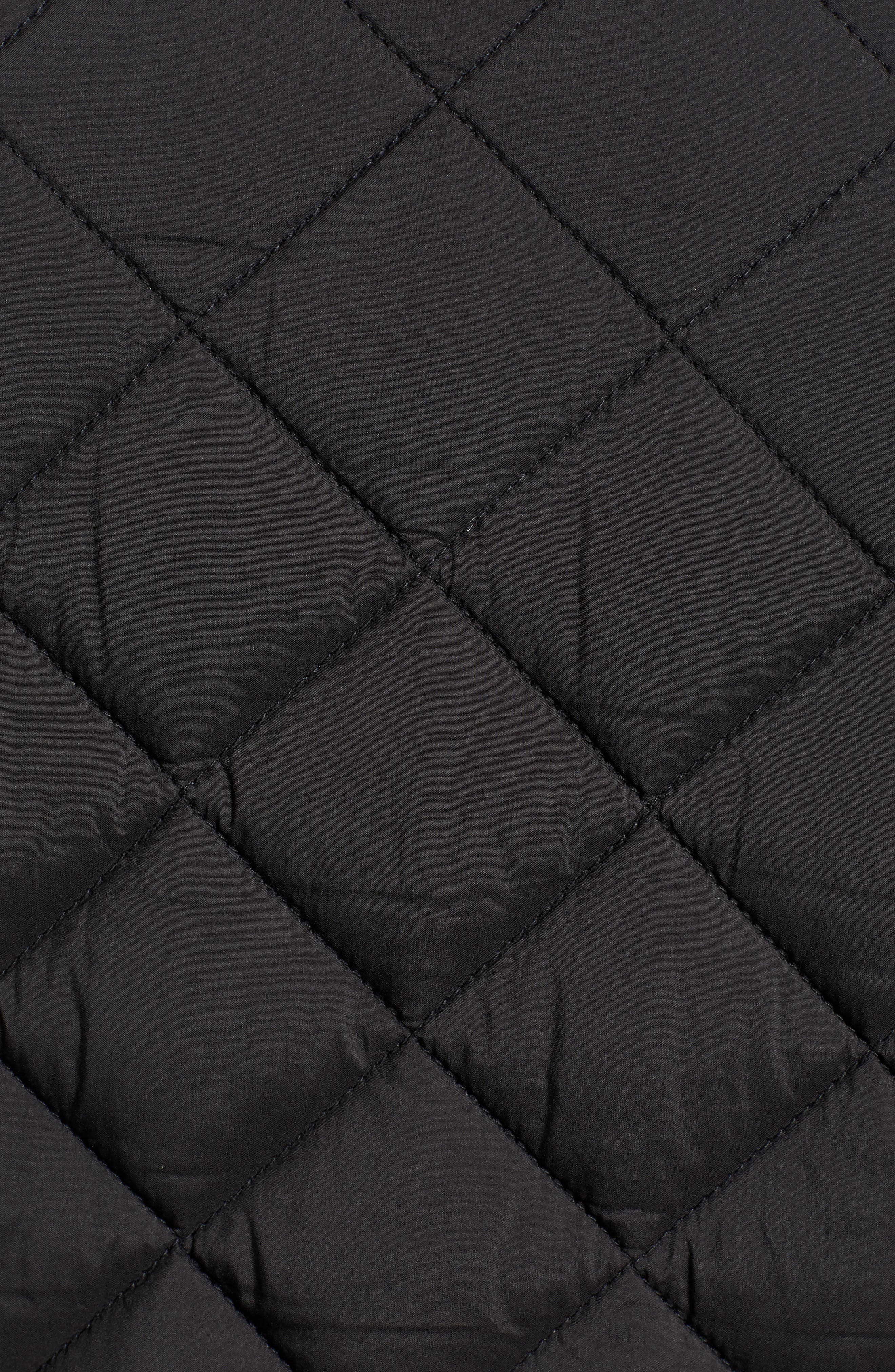 Banff Quilted Jacket,                             Alternate thumbnail 6, color,                             BLACK