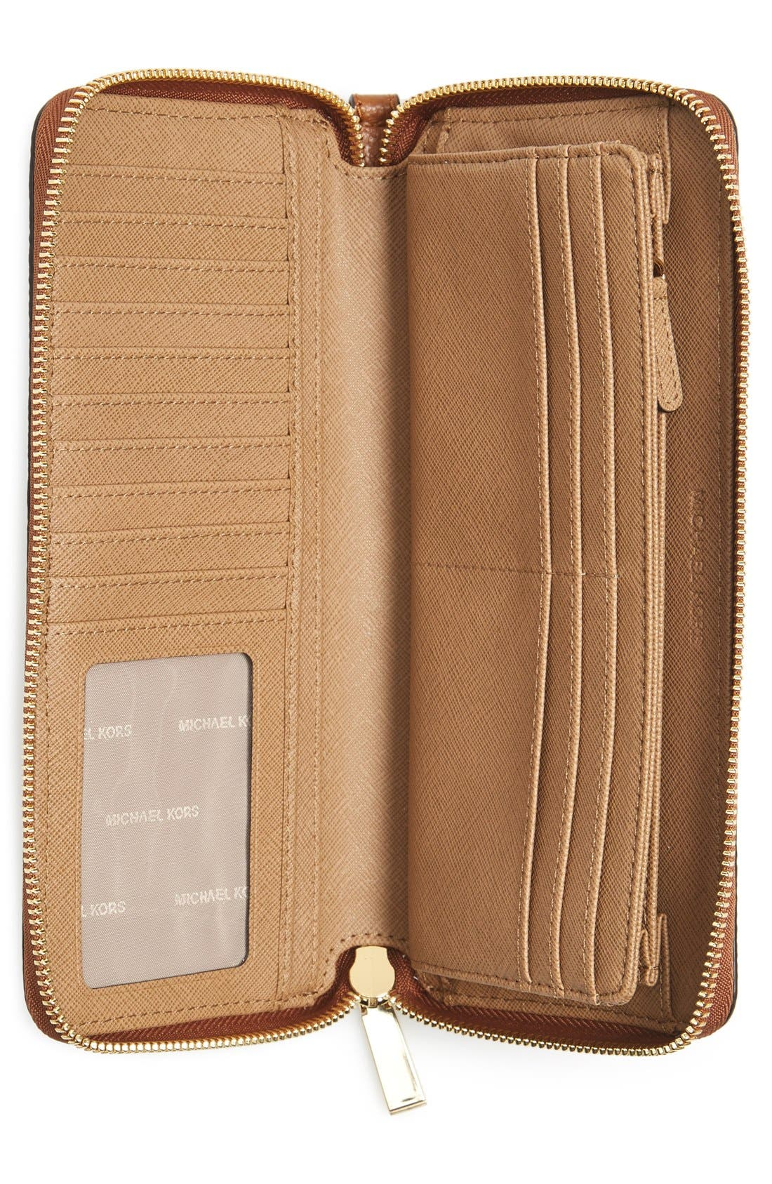 'Mercer' Leather Continental Wallet,                             Alternate thumbnail 27, color,