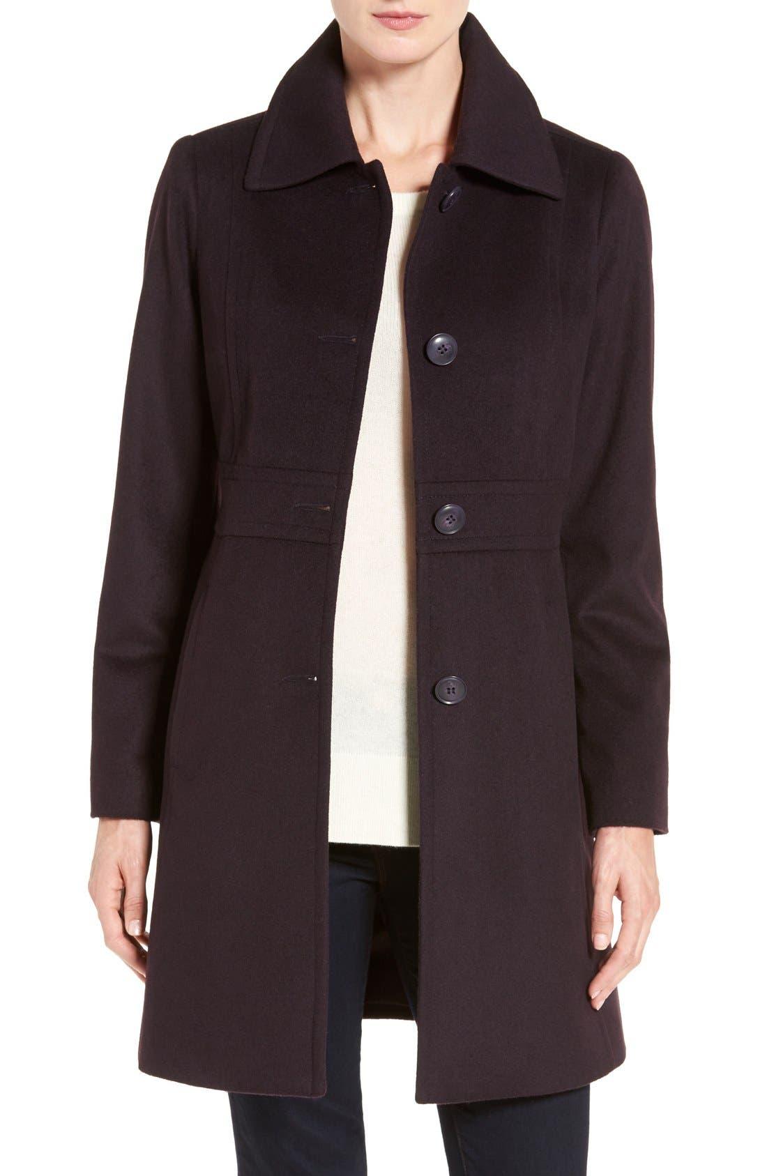 Wool Blend Walking Coat,                             Main thumbnail 4, color,