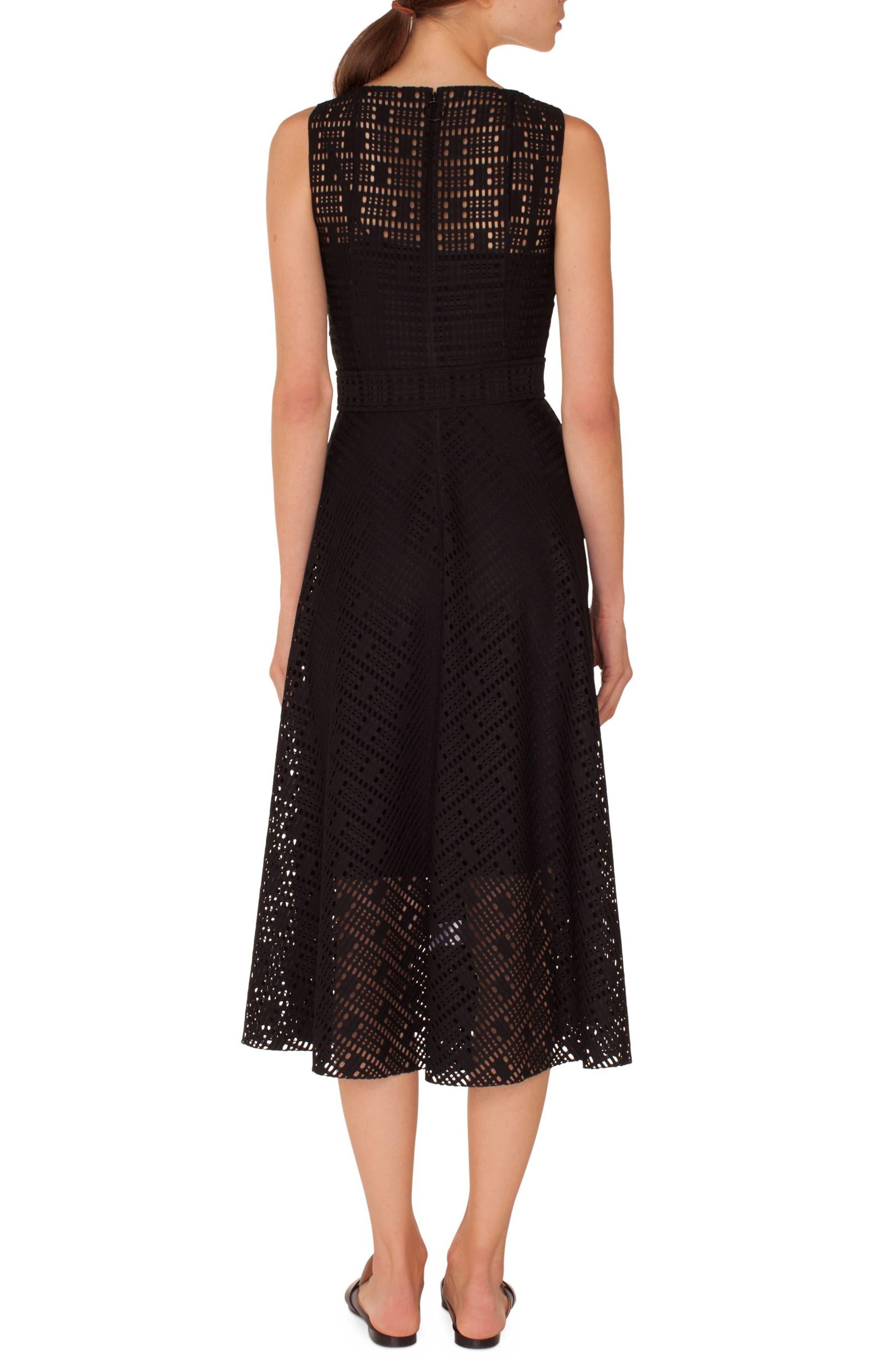 Lace Fit & Flare Dress,                             Alternate thumbnail 2, color,                             009