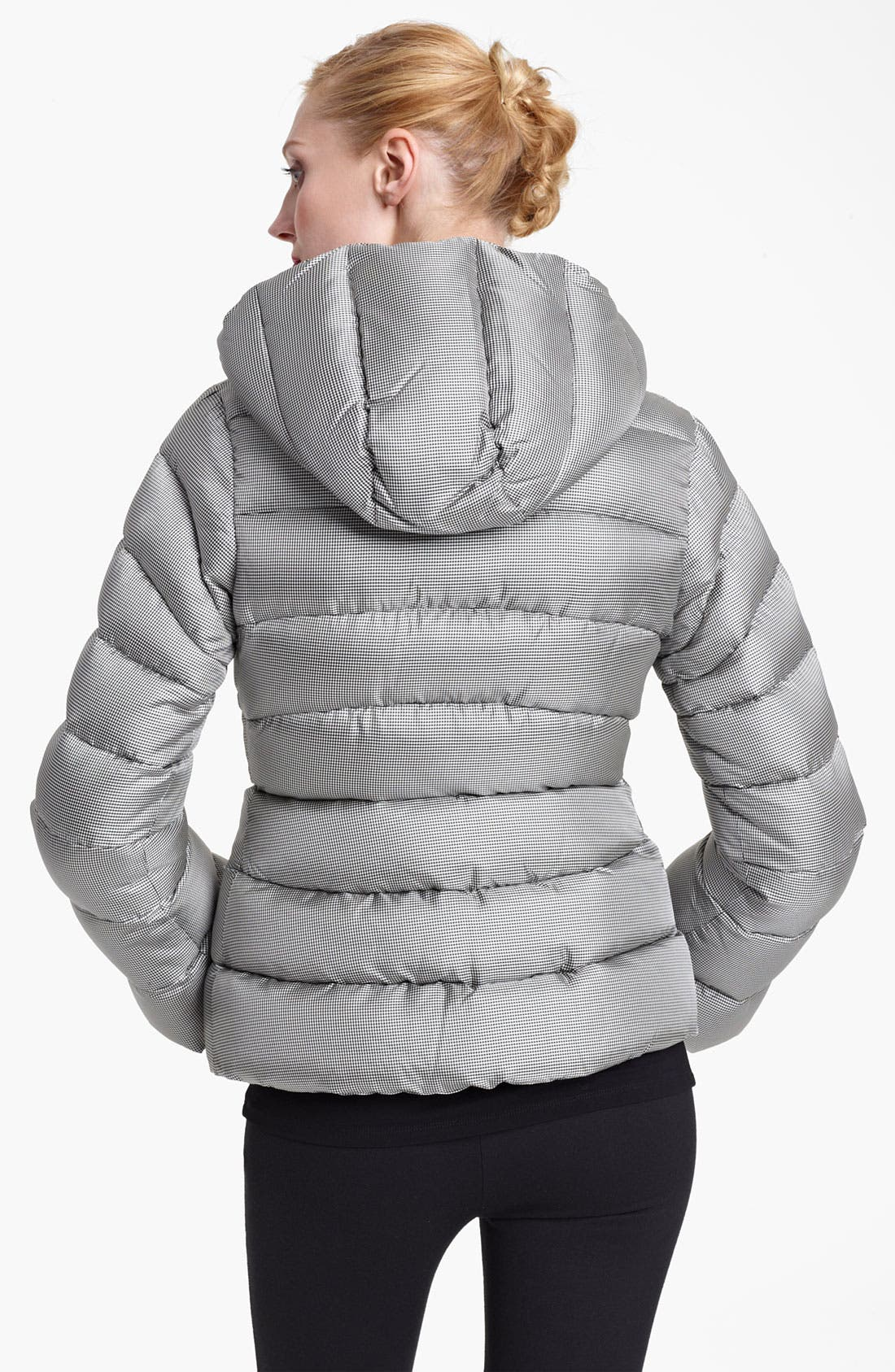 Houndstooth Puffer Jacket,                             Alternate thumbnail 3, color,                             005
