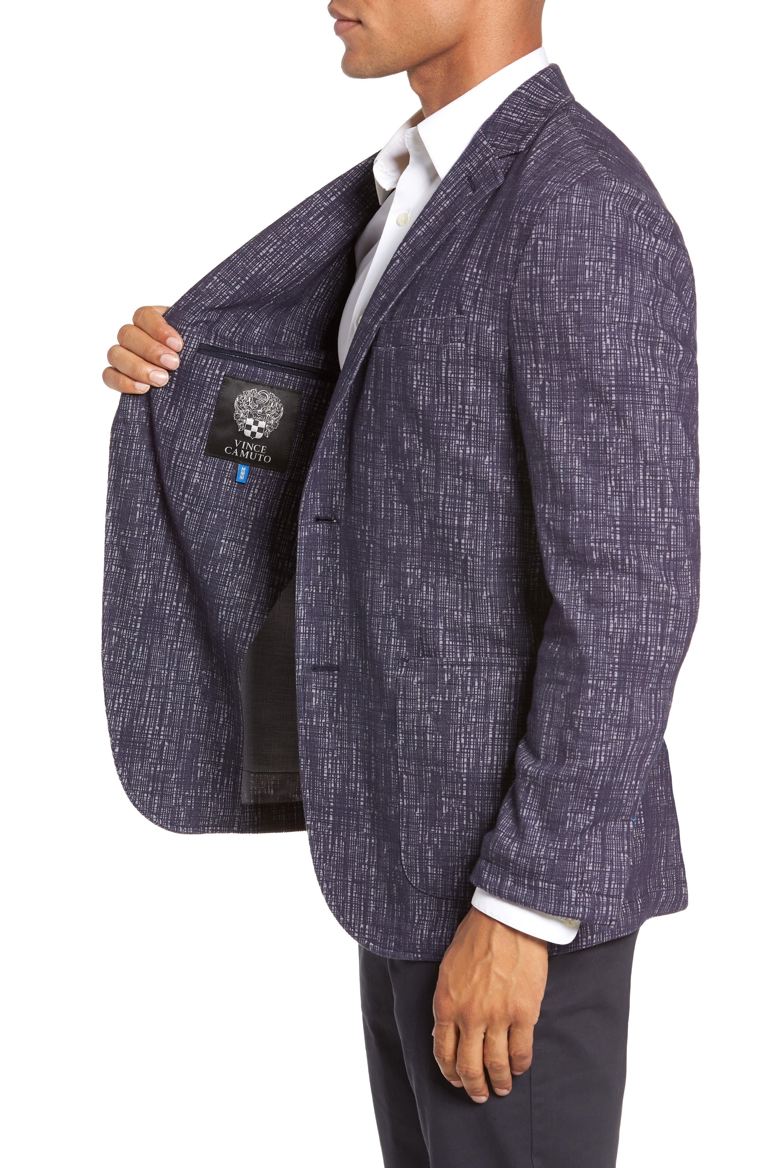 VINCE CAMUTO,                             Mesh Pattern Slim Fit Sport Coat,                             Alternate thumbnail 3, color,                             BLUE