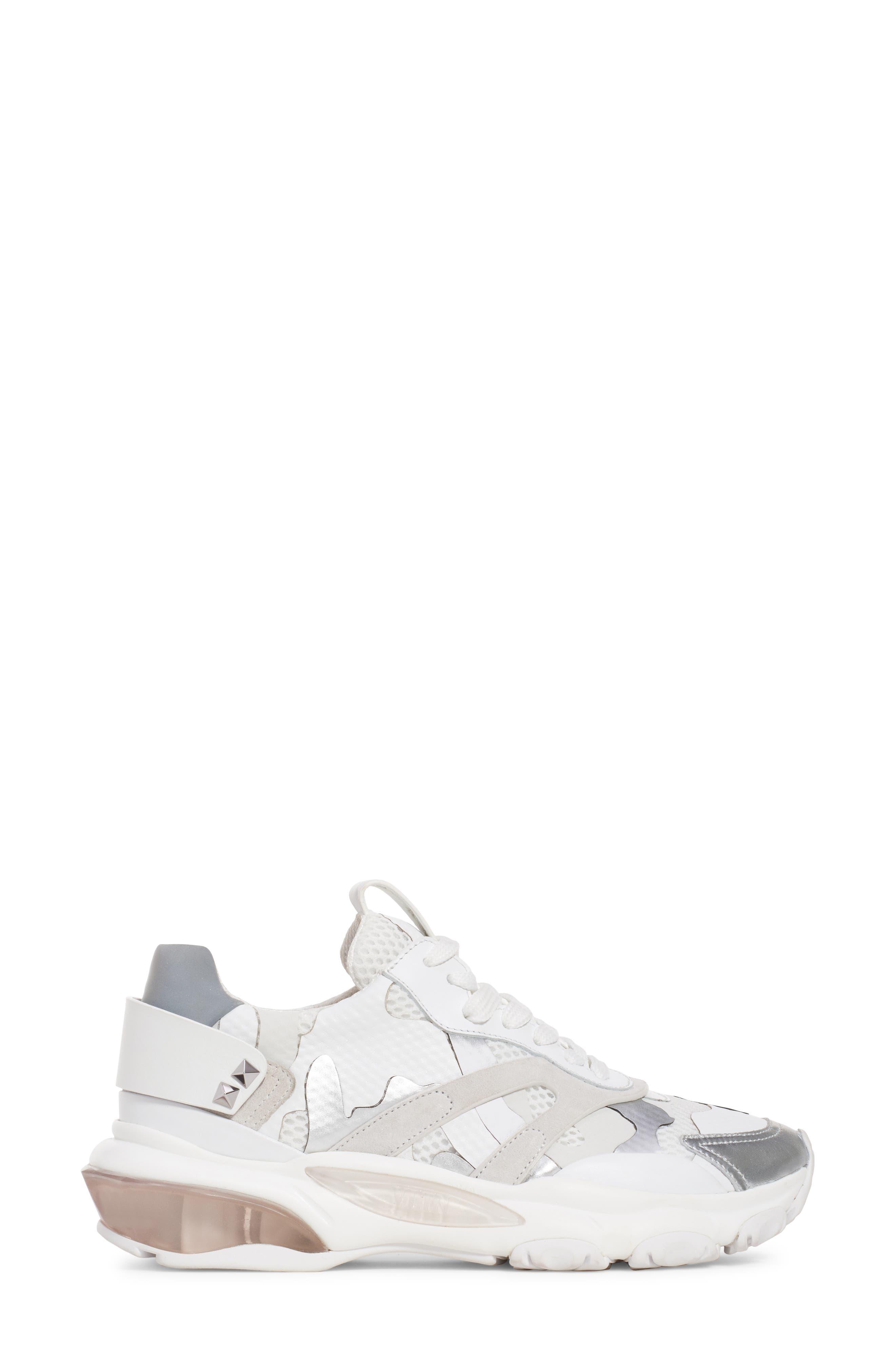 Camo Sneaker,                             Alternate thumbnail 3, color,                             WHITE