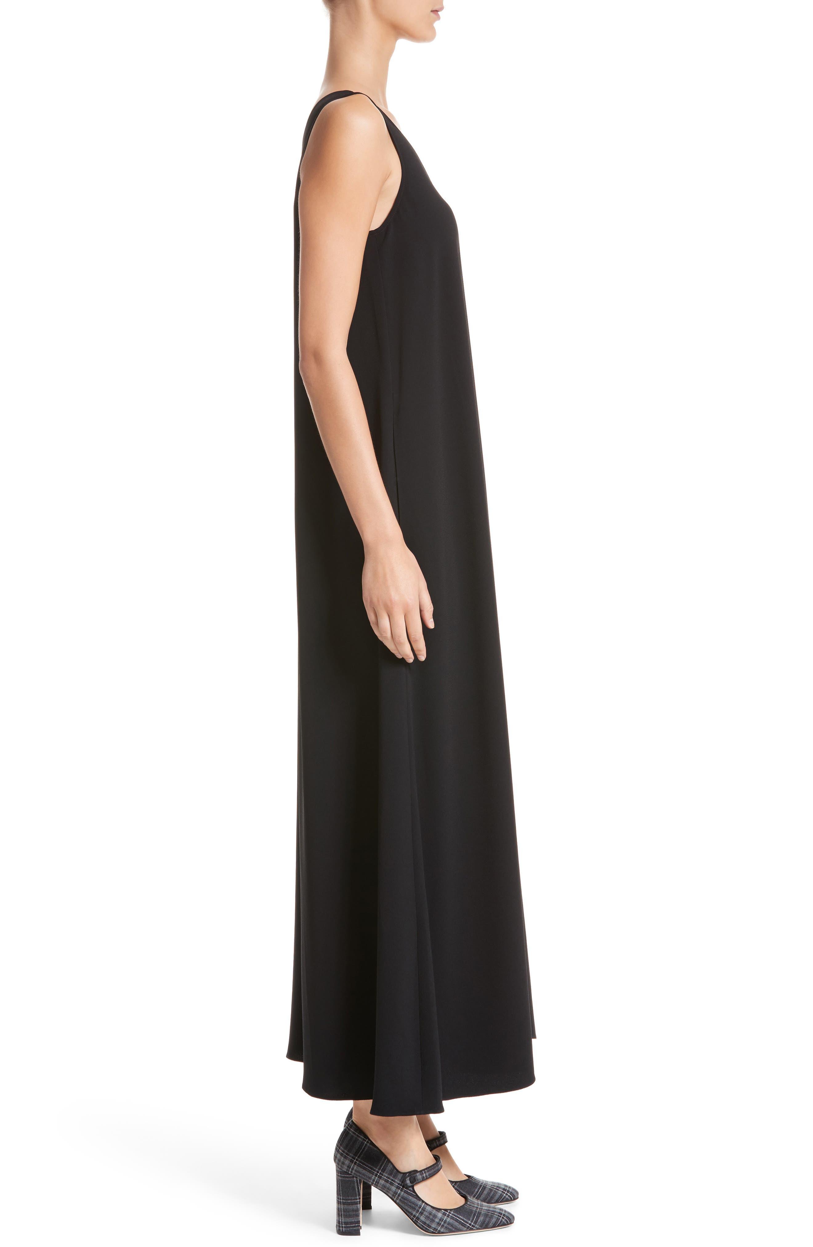 Sleeveless Maxi Dress,                             Alternate thumbnail 3, color,                             001
