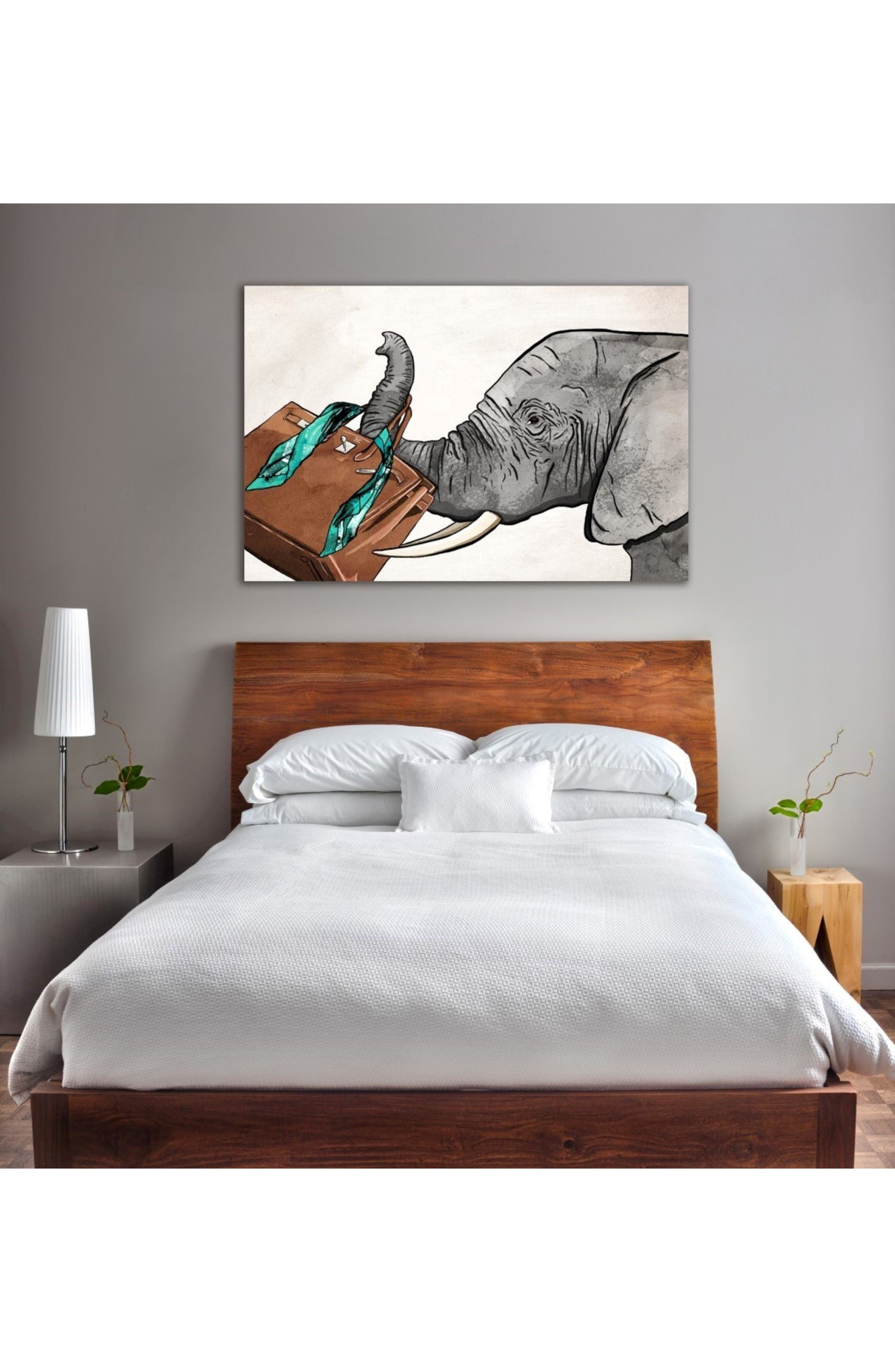Fashion Elephant Canvas Wall Art,                             Alternate thumbnail 2, color,                             100