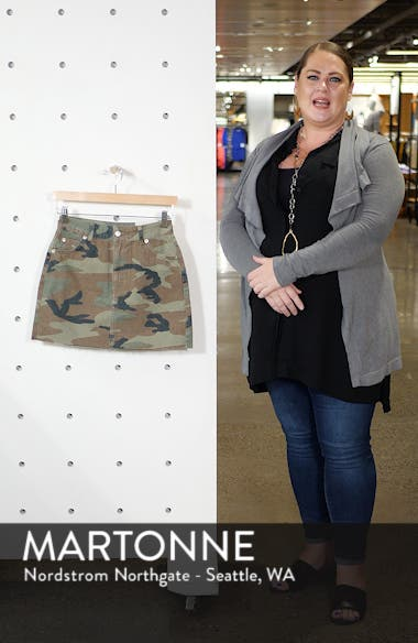 Camouflage Denim Skirt, sales video thumbnail