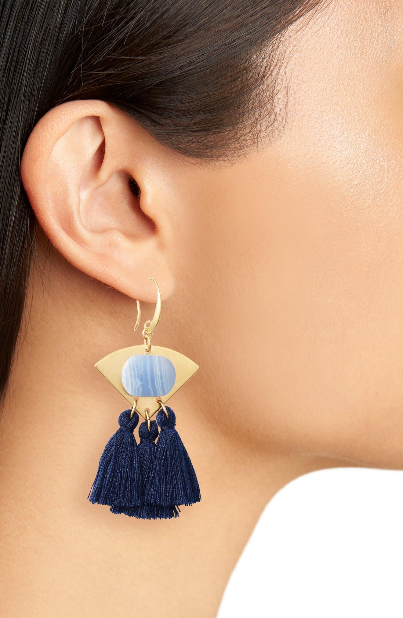 3-Tassel Earrings,                             Alternate thumbnail 5, color,
