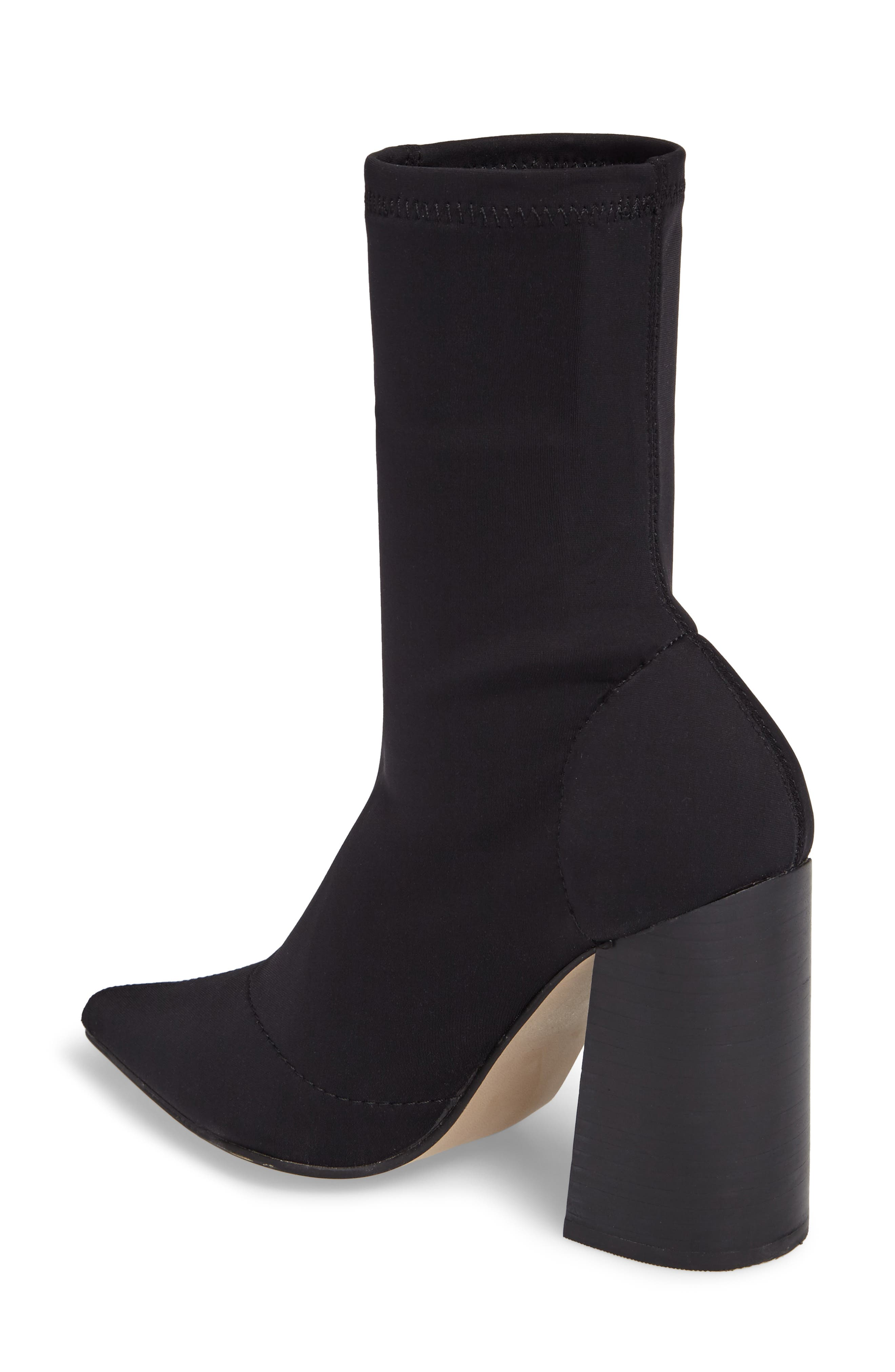 Lombard Pointy Toe Sock Bootie,                             Alternate thumbnail 2, color,                             001