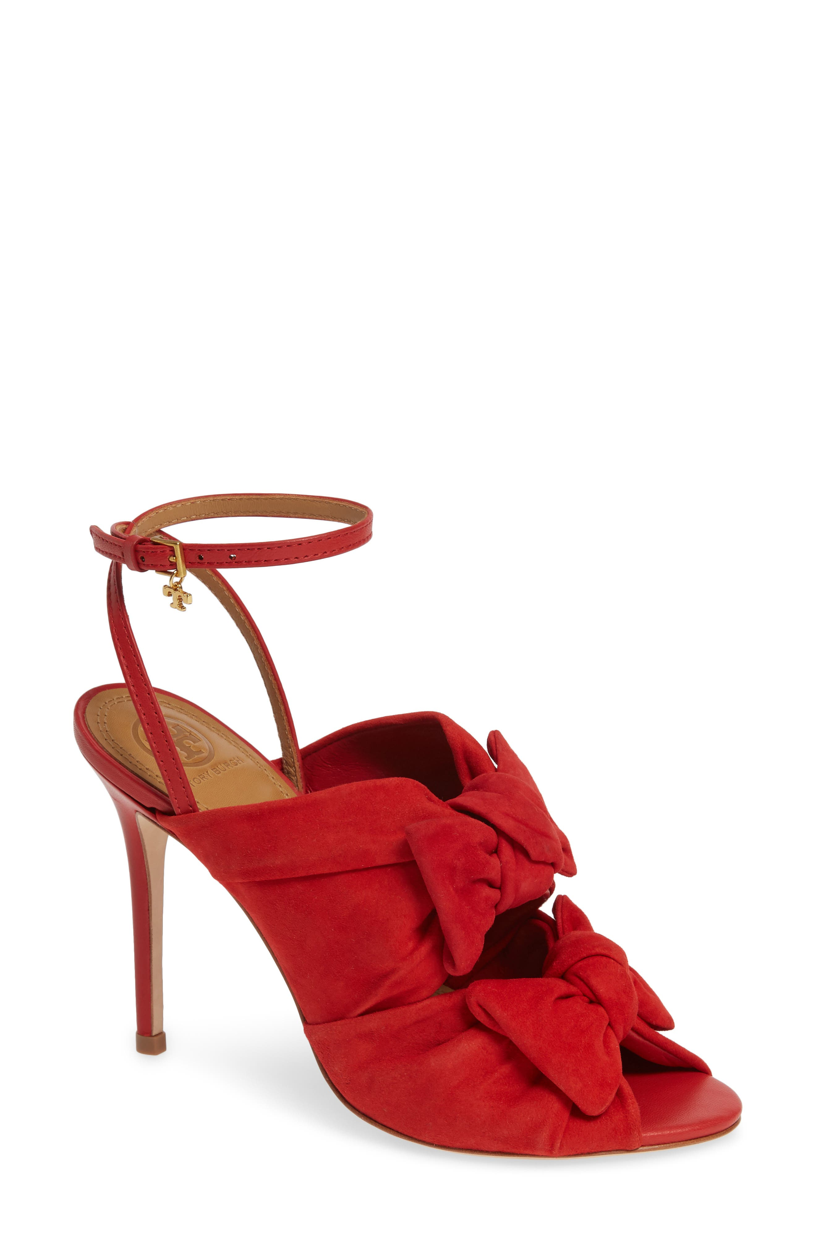Tory Burch Eleanor Knotted Sandal, Red